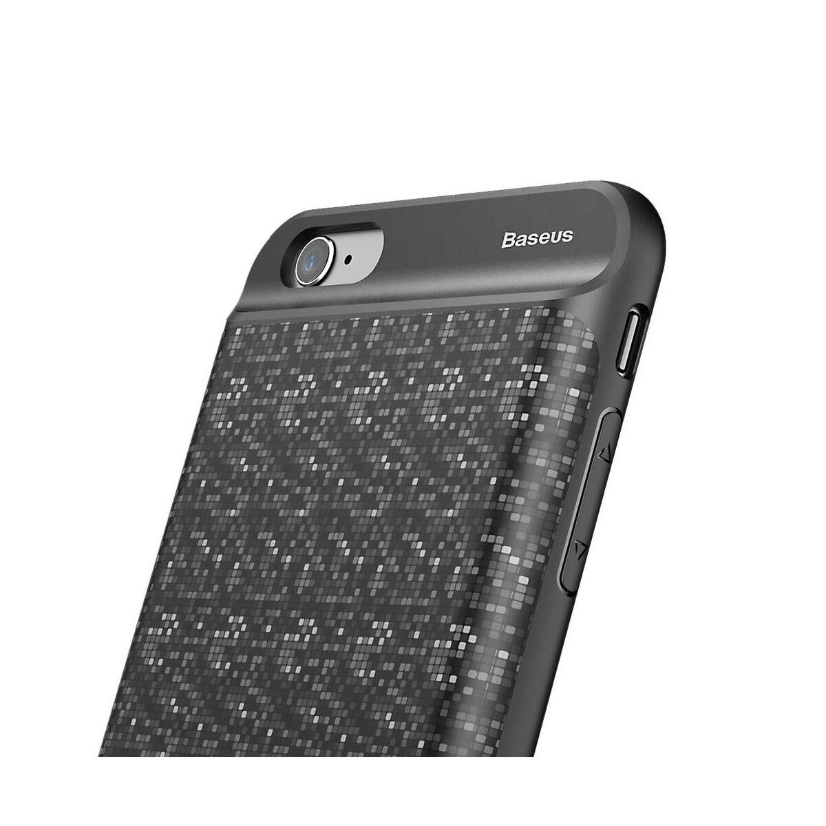 Baseus Power Bank tok, Plaid Backpack 2500 mAh iPhone 6/6s, fekete (ACAPIPH6-BJ01)
