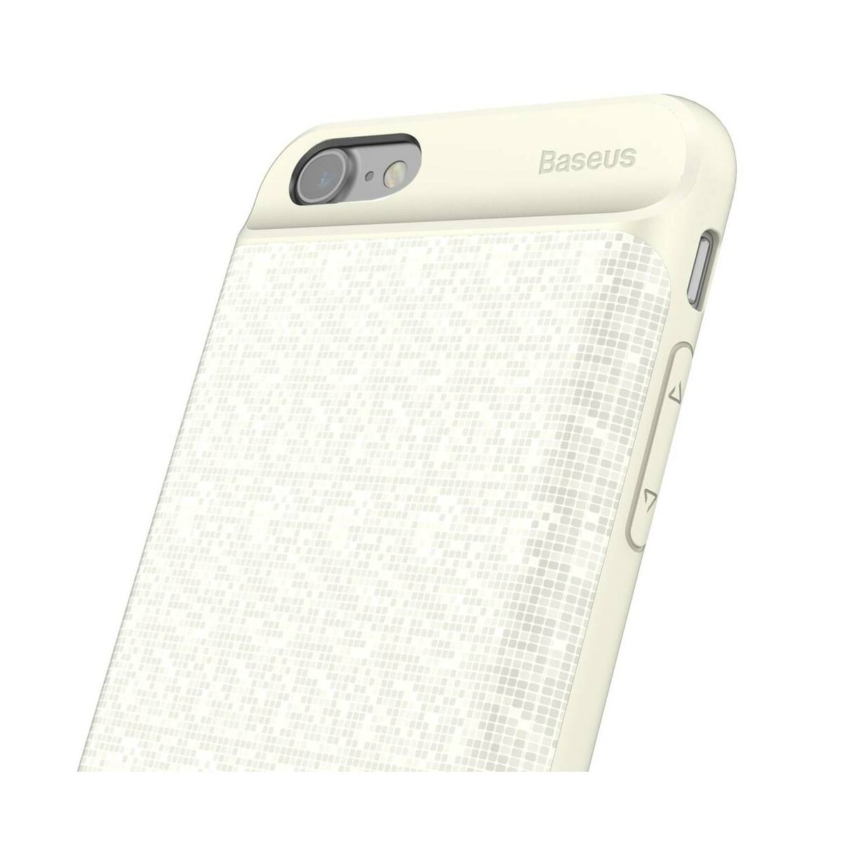 Baseus Power Bank tok, Plaid Backpack 2500 mAh iPhone 8/7, fehér (ACAPIPH7-BJ02)