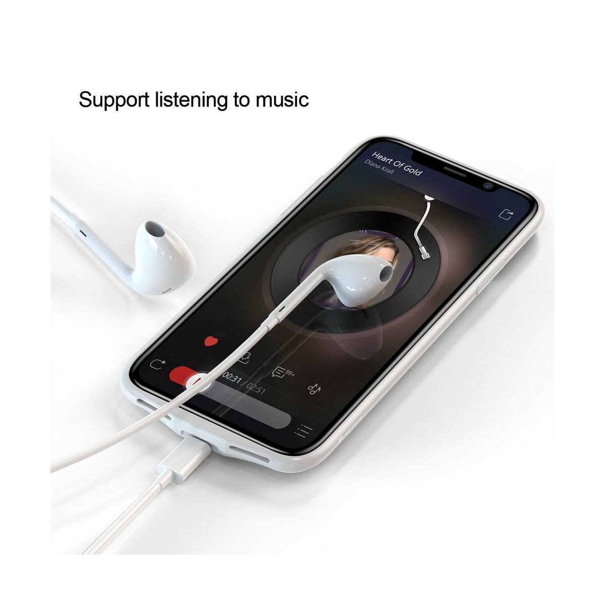 Baseus Power Bank tok, Plaid Backpack 3500 mAh iPhone X, fekete (ACAPIPHX-BJ01)