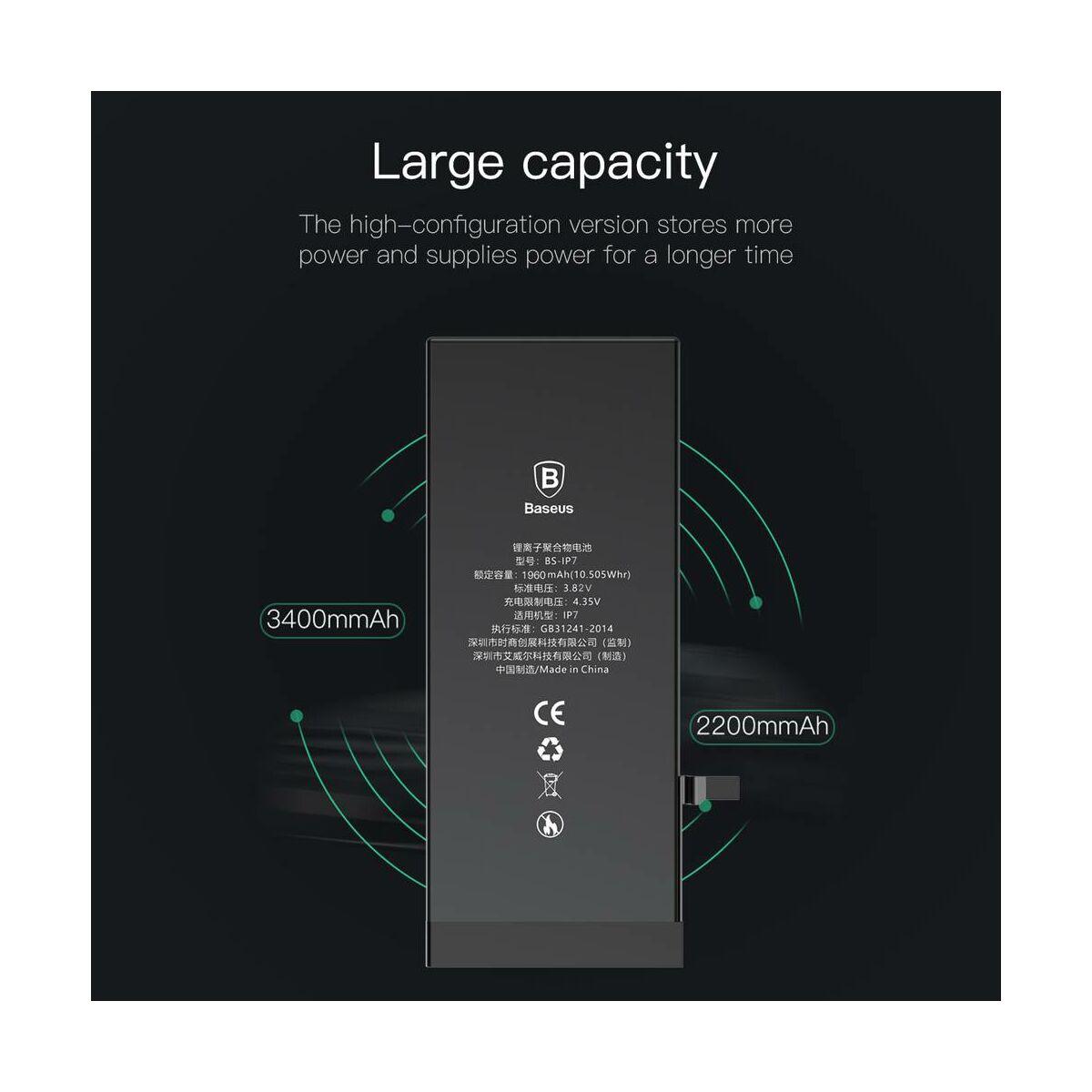Baseus eredeti kapacitású akkumulátor iPhone 7-hez, 1960 mAh (ACCB-AIP7)