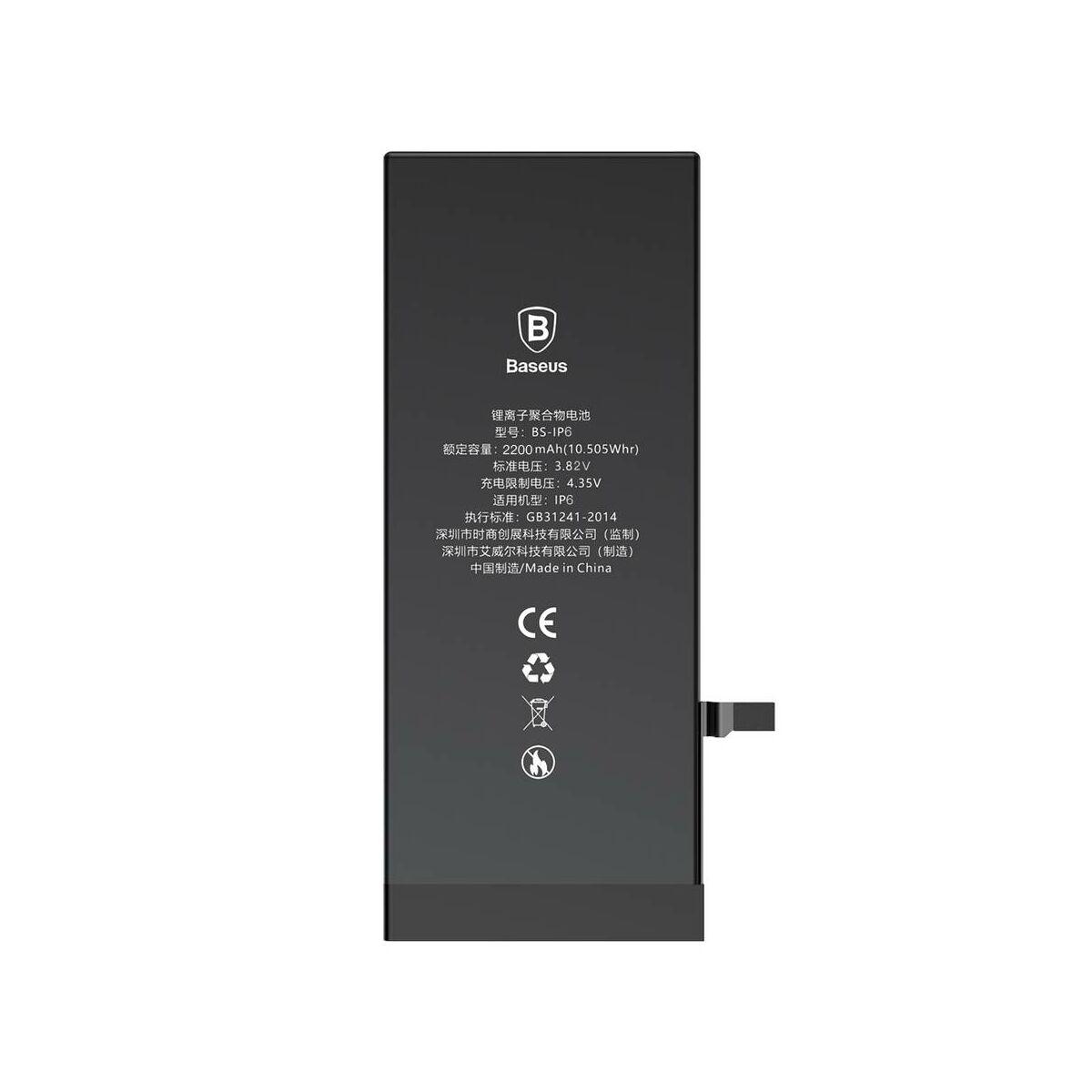 Baseus nagy teljesítményű akkumulátor iPhone 6-hoz, 2200 mAh (ACCB-BIP6)