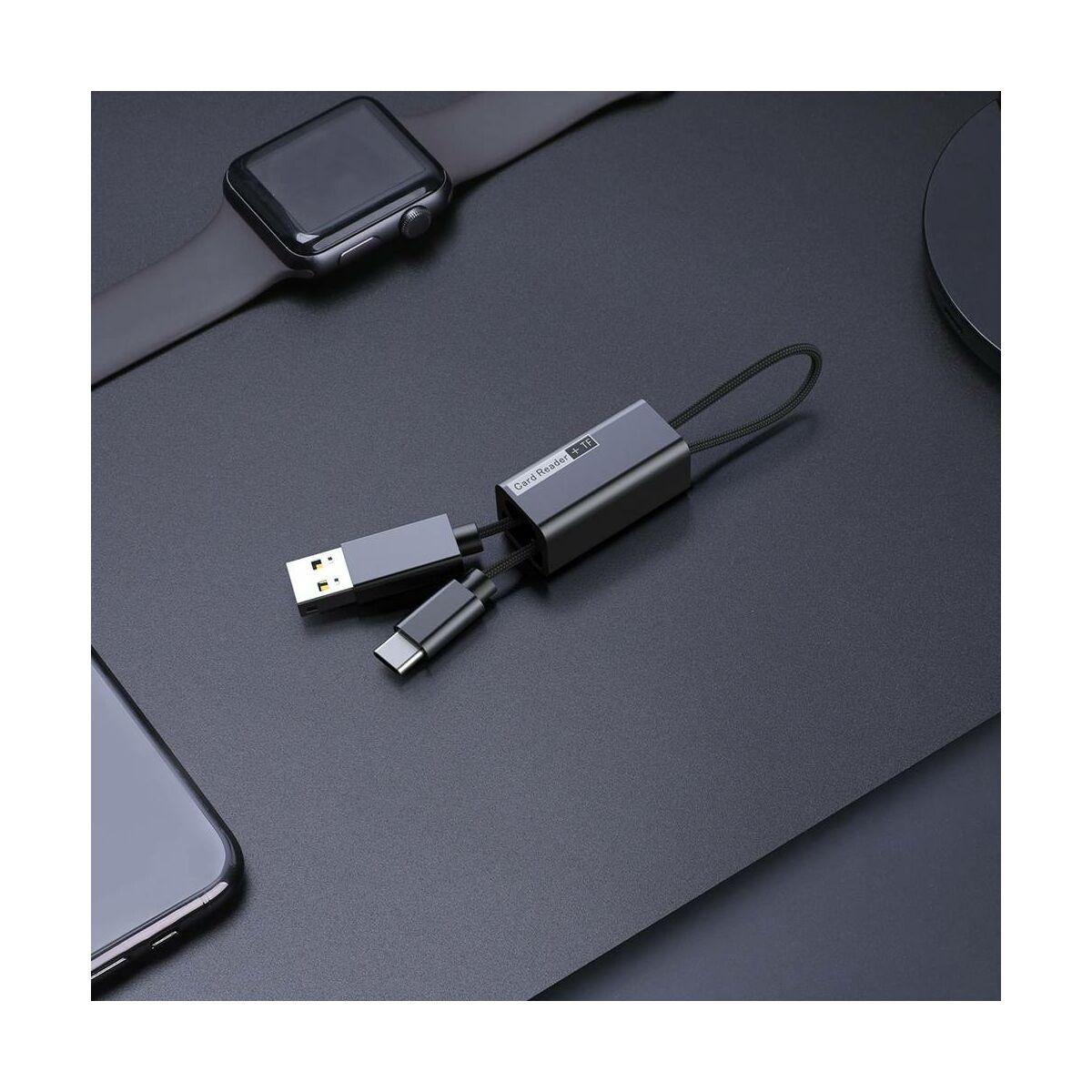 Baseus kártyaolvasó Pendant, fekete (ACDKQ-HG01)