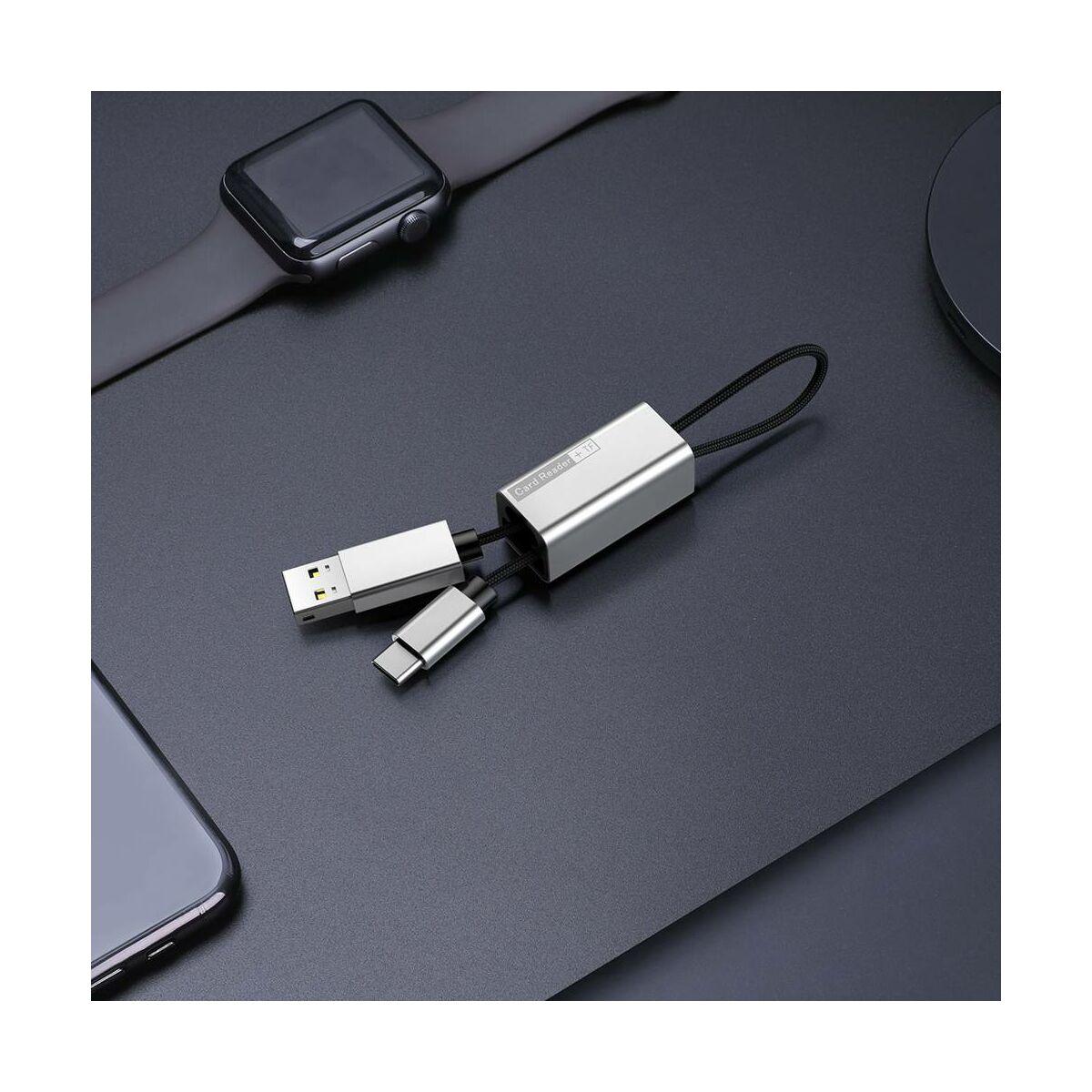 Baseus kártyaolvasó Pendant, ezüst (ACDKQ-HG0S)