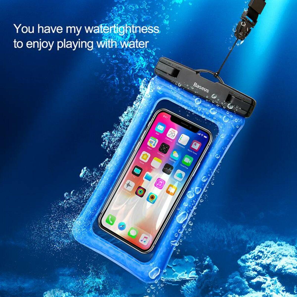 """Baseus Univerzális tartó, vízálló tok, Air Cushion, 6.0""""-ig, kék (ACFSD-A03)"""