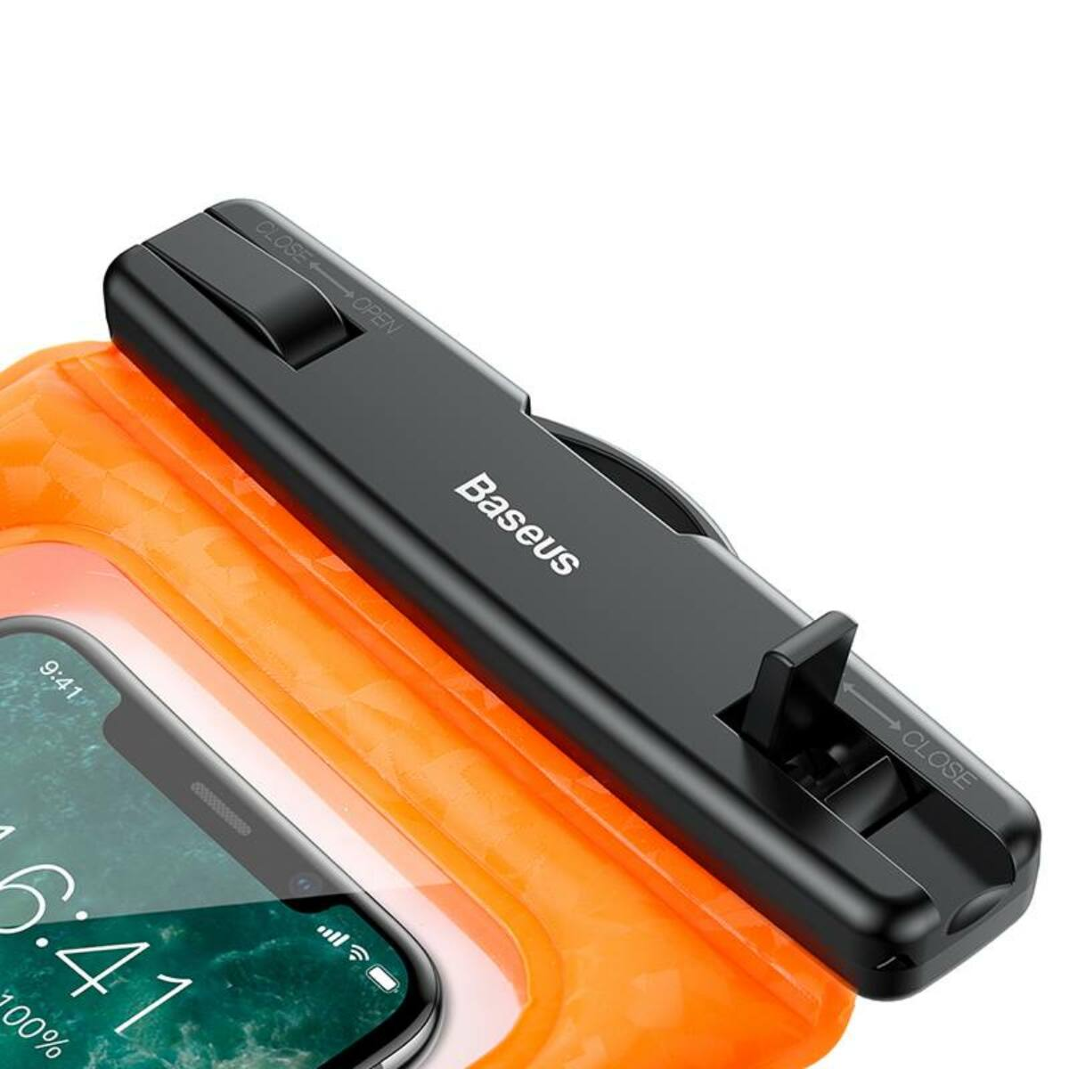 """Baseus Univerzális tartó, vízálló tok, Air Cushion, 6.0""""-ig, narancssárga (ACFSD-A07)"""