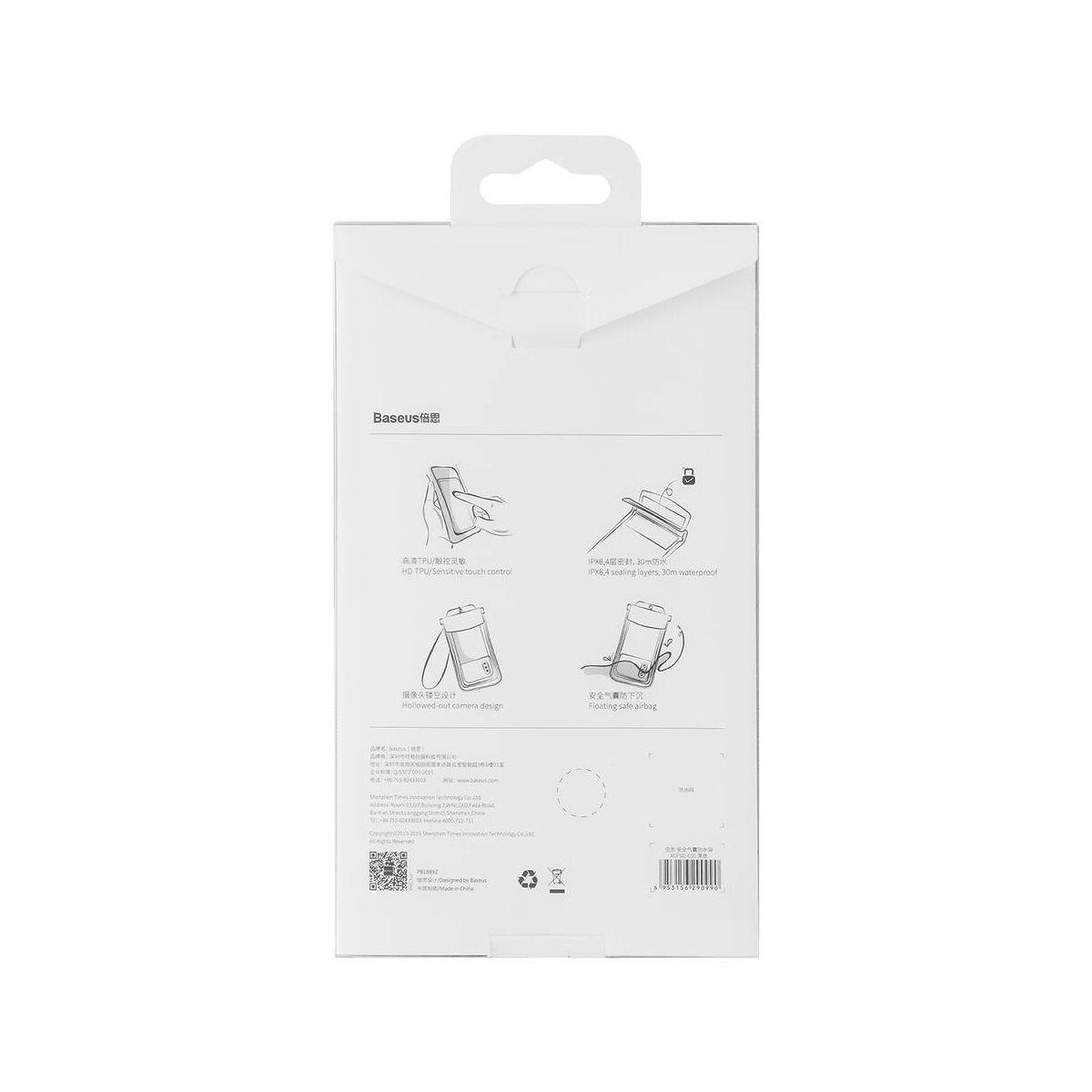 "Baseus Univerzális tartó, Safe Airbag tok, Waterproof, 6.0""-ig, fekete (ACFSD-C01)"