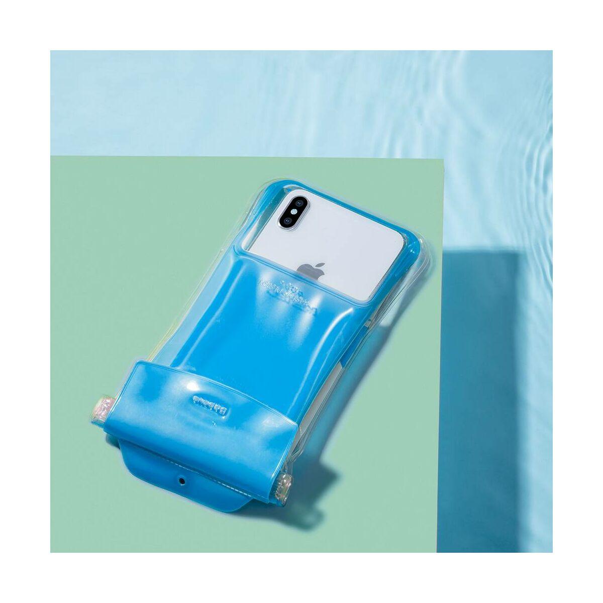 """Baseus Univerzális tartó, Safe Airbag tok, Waterproof, 6.0""""-ig, kék (ACFSD-C03)"""