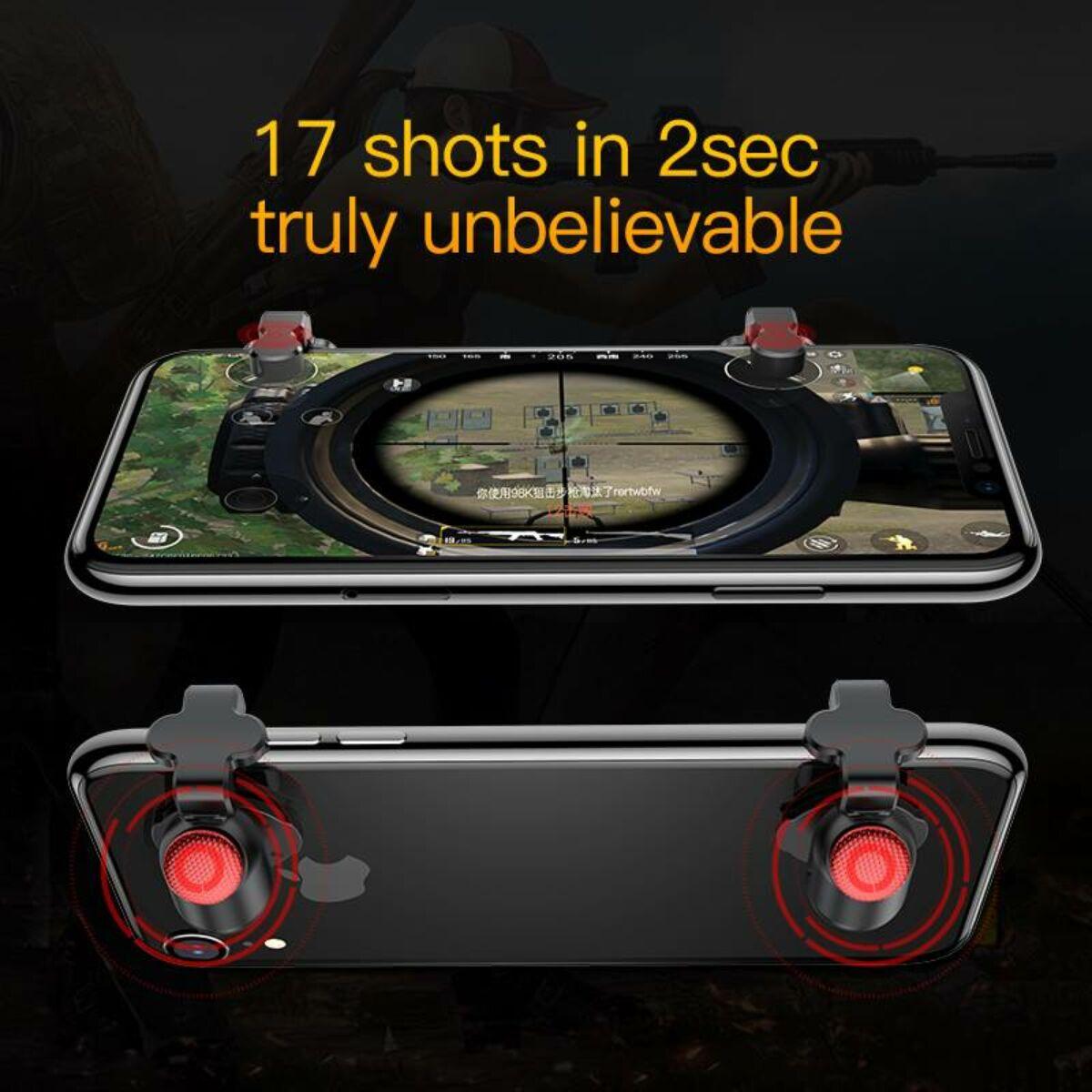Baseus játék eszköz Red-Dot mobilos játékhoz célzó eszköz, átlátszó (ACHDCJ-02)