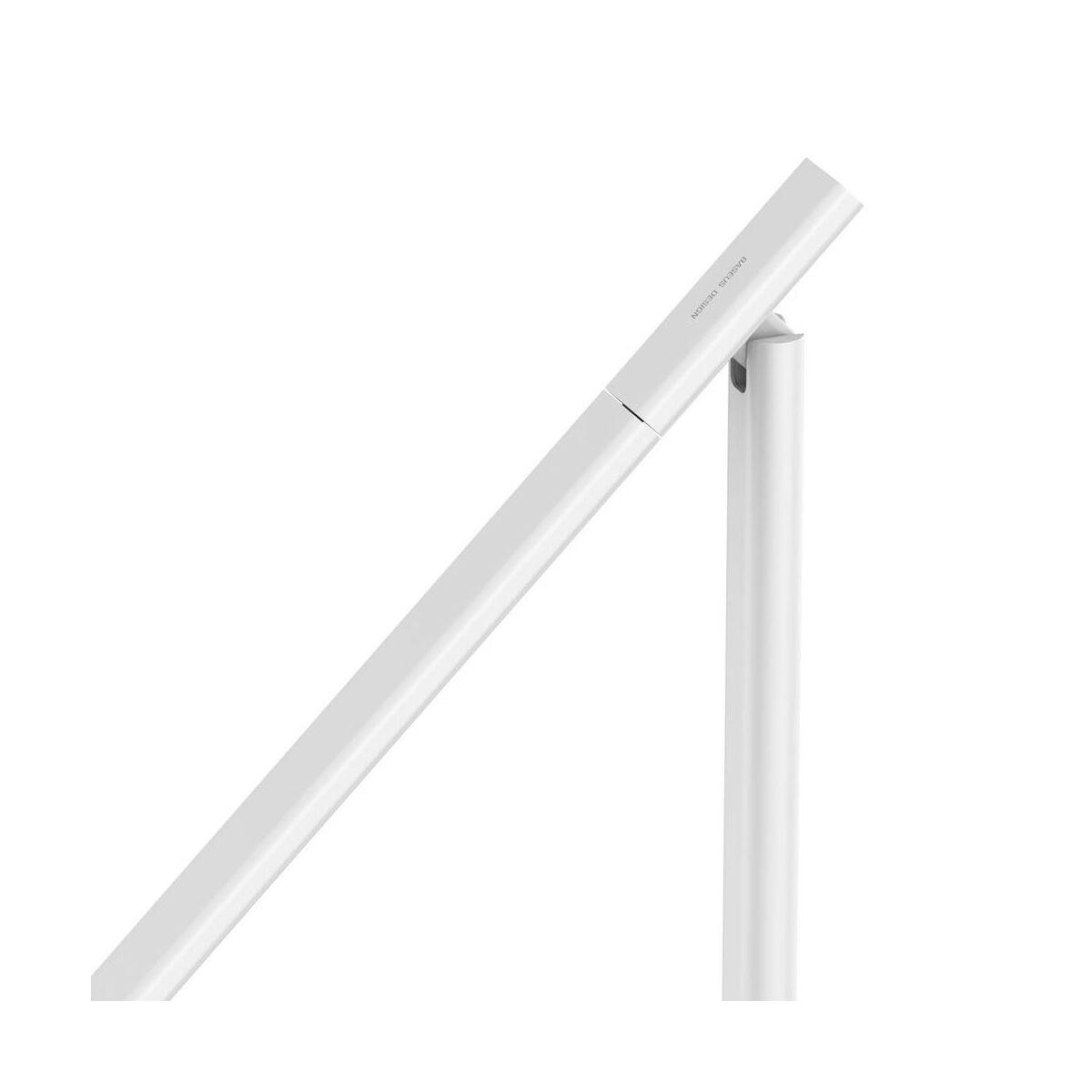 Baseus otthon, LED asztali lámpa vezeték nélküli töltővel, fehér (ACLT-B02)