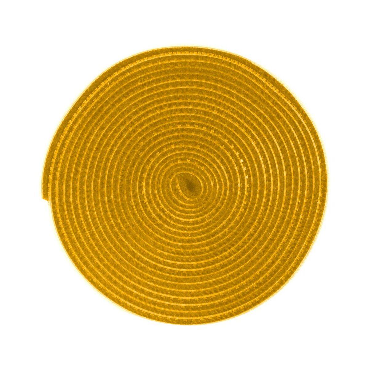 Baseus kiegészítő Rainbow Circle tépőzáras vágható kötegelő csík, 3m, citromsárga (ACMGT-F0Y)