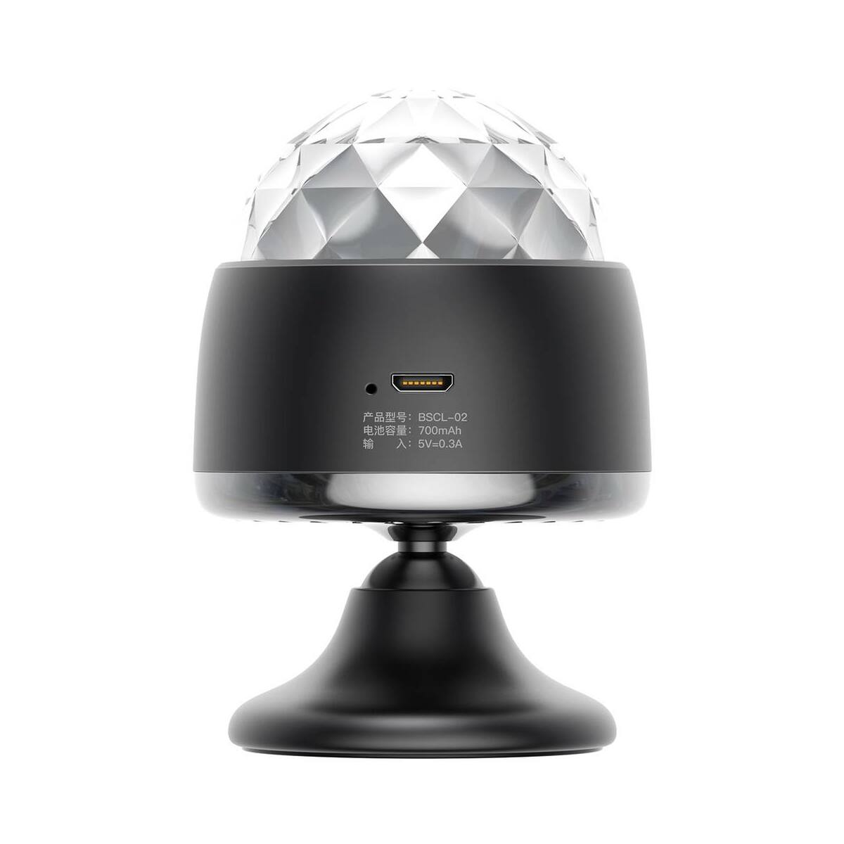 Baseus Crystal varázsgömb lámpa, fekete (ACMQD-01)
