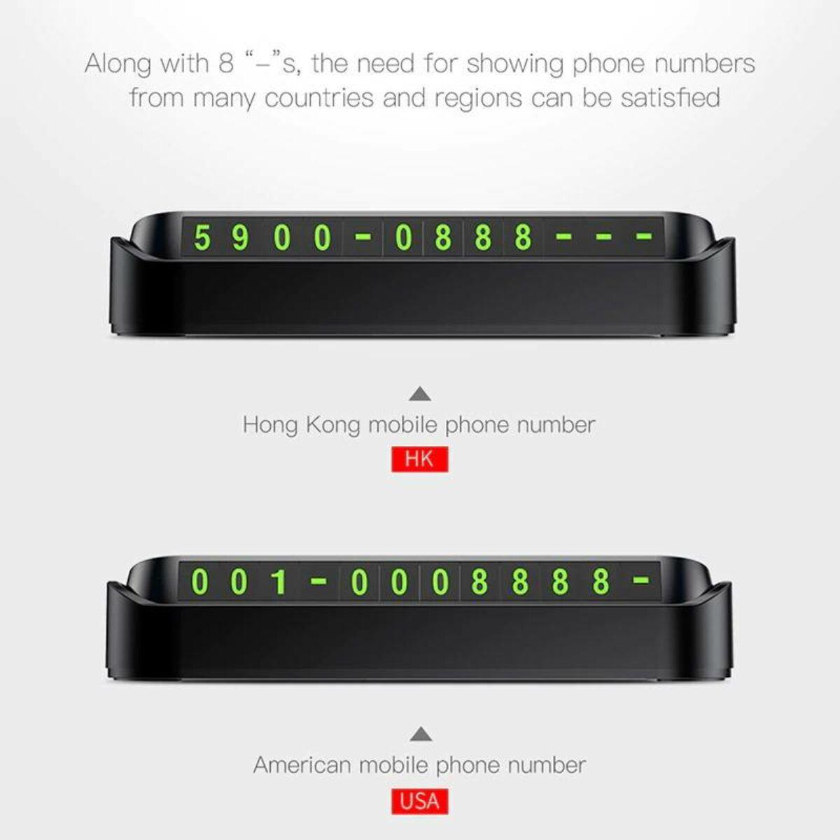 Baseus Tock telefonszám kijelző műszerfalra parkoláshoz, fekete (ACNUM-DD01)