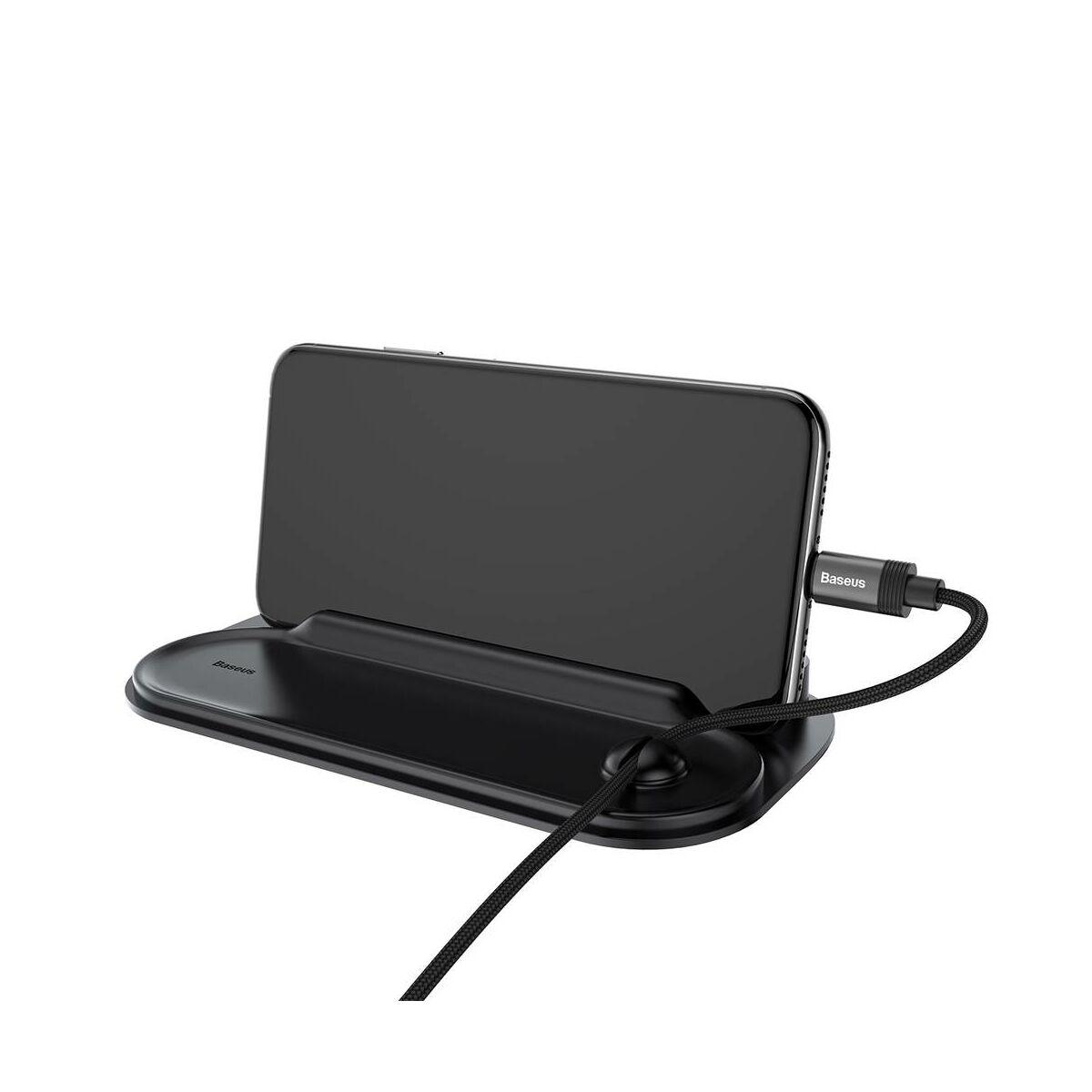 Baseus autós kiegészítő Horizon Silicone telefonszám kijelző műszerfalra parkoláshoz, fekete (ACNUM-PM01)