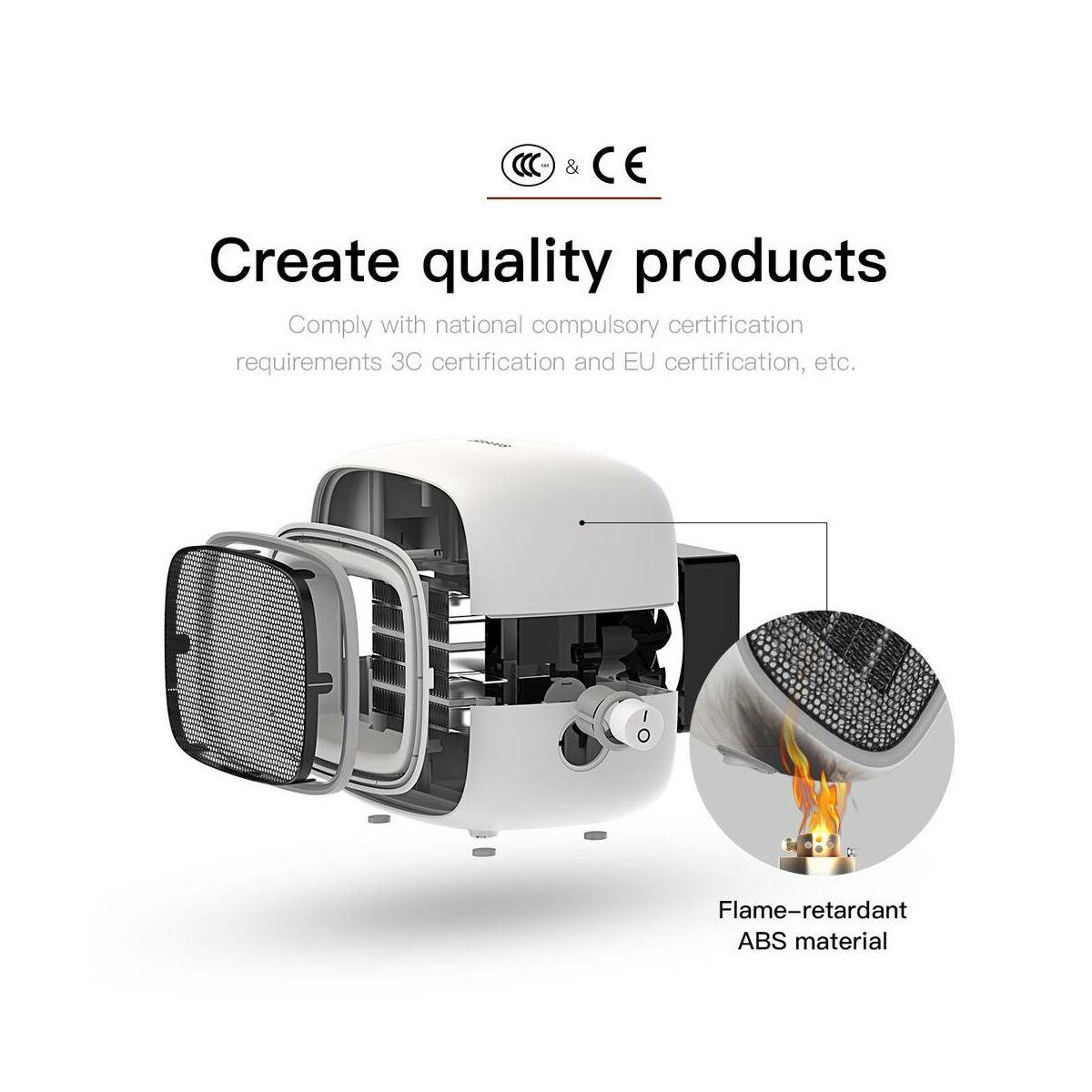 Baseus otthon, Warm Little fehér ventilátoros fűtőtest, EU fehér (ACNXB-A02)