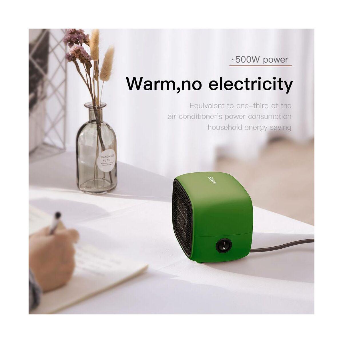 Baseus otthon, Warm Little fehér ventilátoros fűtőtest, EU, zöld (ACNXB-A06)