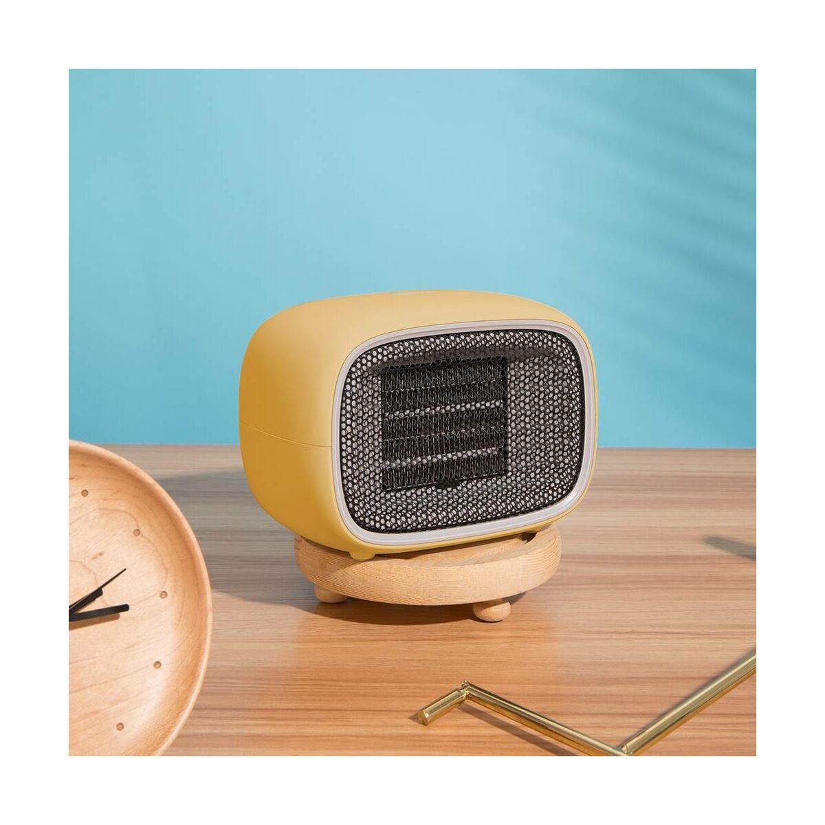 Baseus otthon, Warm Little fehér ventilátoros fűtőtest, EU, citrom (ACNXB-A0Y)