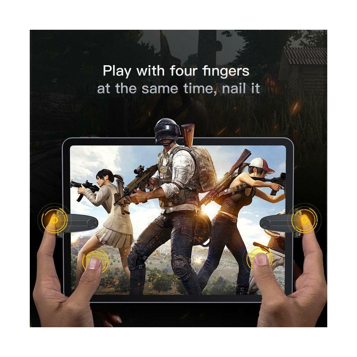 Baseus játék eszköz, tartás könnyítő, extra gombok iPad és más Tablethez, fekete (ACPBCJ-01)