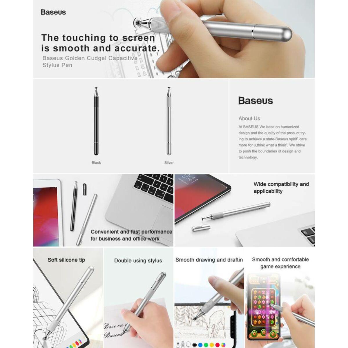 Baseus Tablet kiegészítő, toll Golden Cudgel Capacitive Stylus, ezüst (ACPCL-0S)