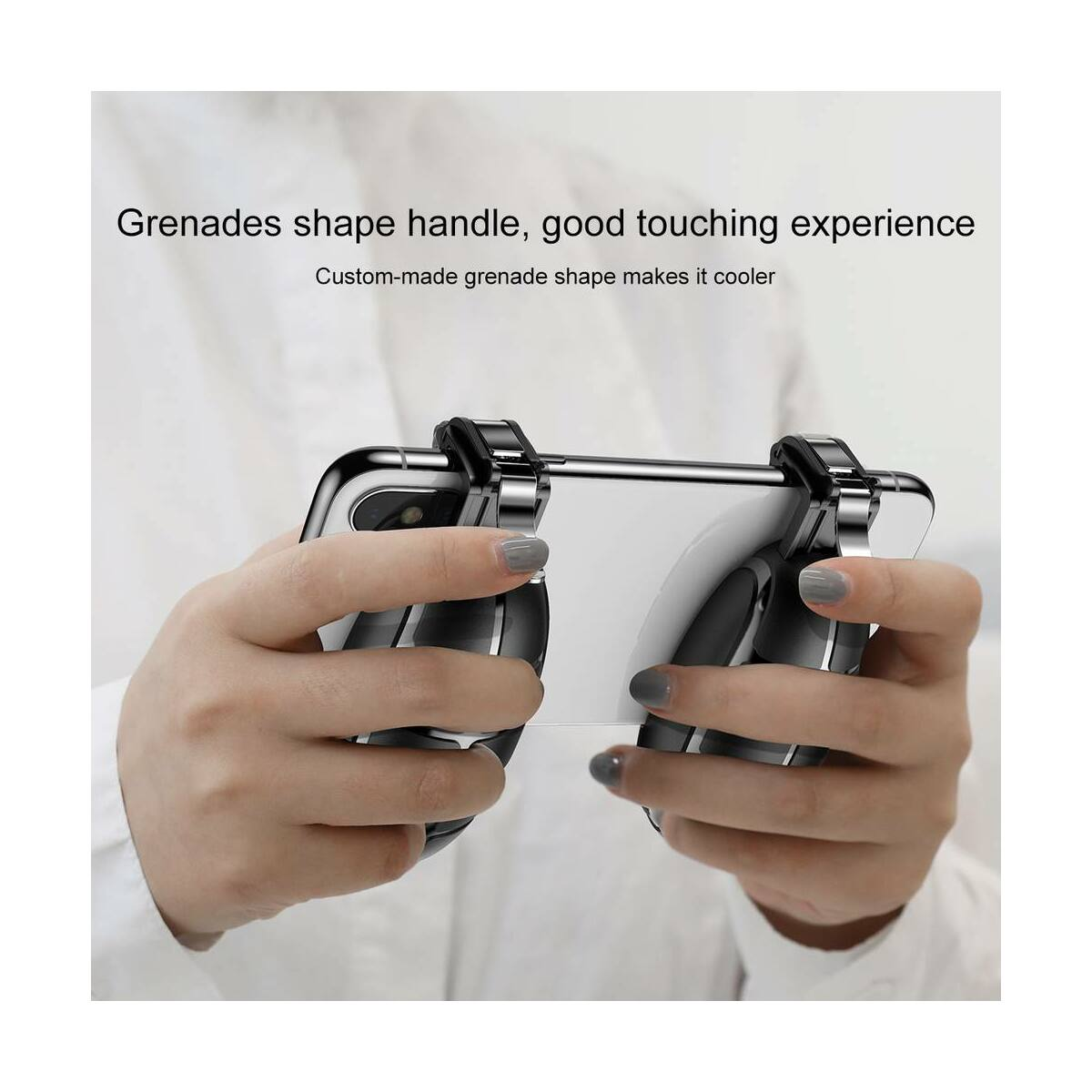 Baseus játék eszköz, Gránát forma, tartást könnyítő kiegészítő, extra gombok, zöld (ACSLCJ-06)