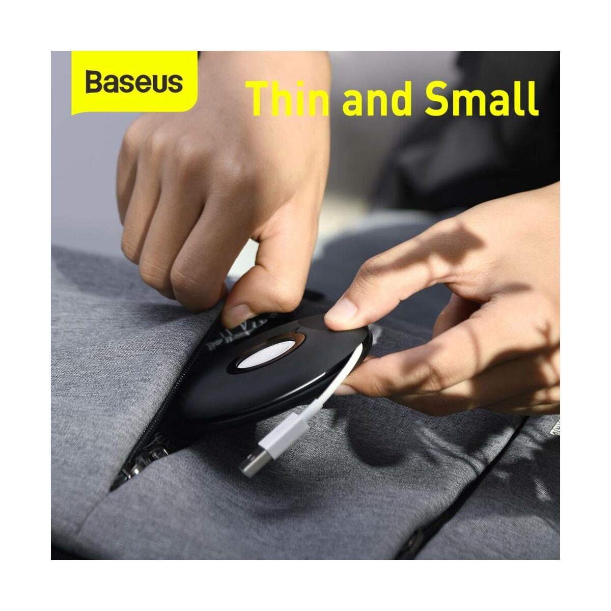 Baseus vezeték nélküli töltő kiegészítő, Planet Cable Winder töltő és kábel tekercselő, iWatch series 1-5 modellhez, fekete (ACSLH-01)