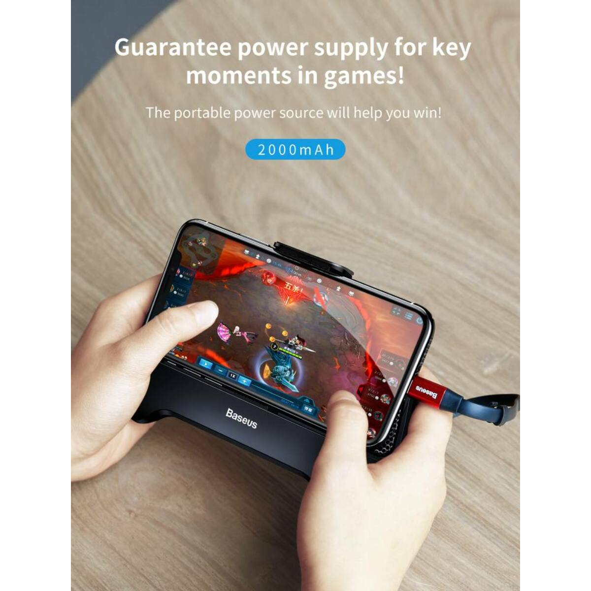 Baseus játék eszköz Mobile Games hőelvezetős telefontartó, fekete (ACSR-01)