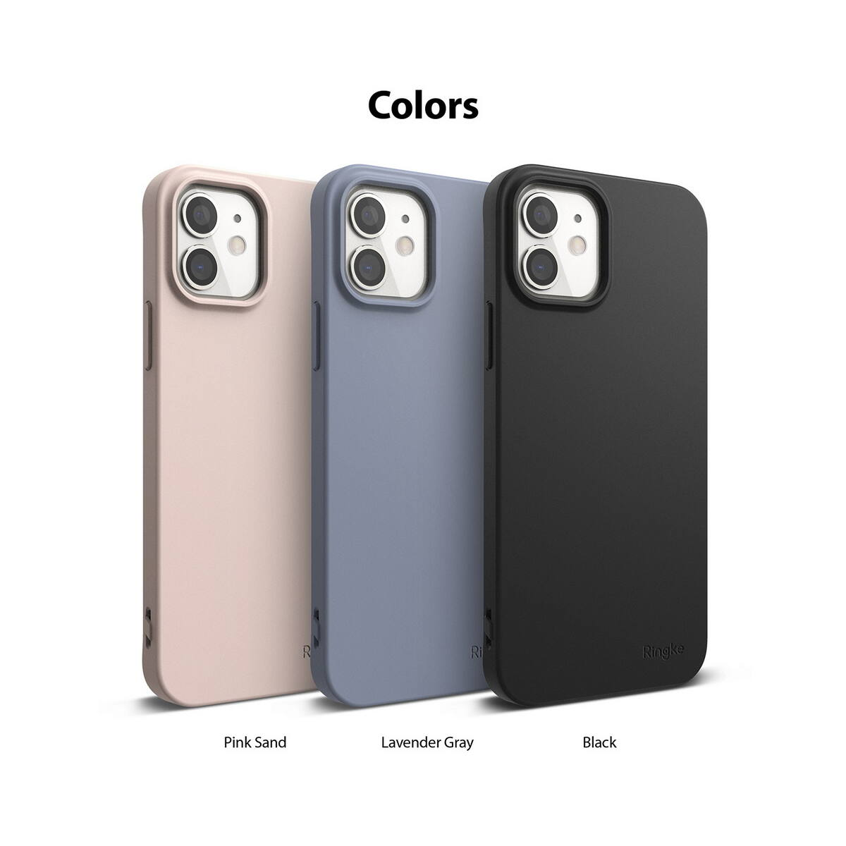 Ringke iPhone 12/12 Pro tok, Air S, Homok rózsaszín