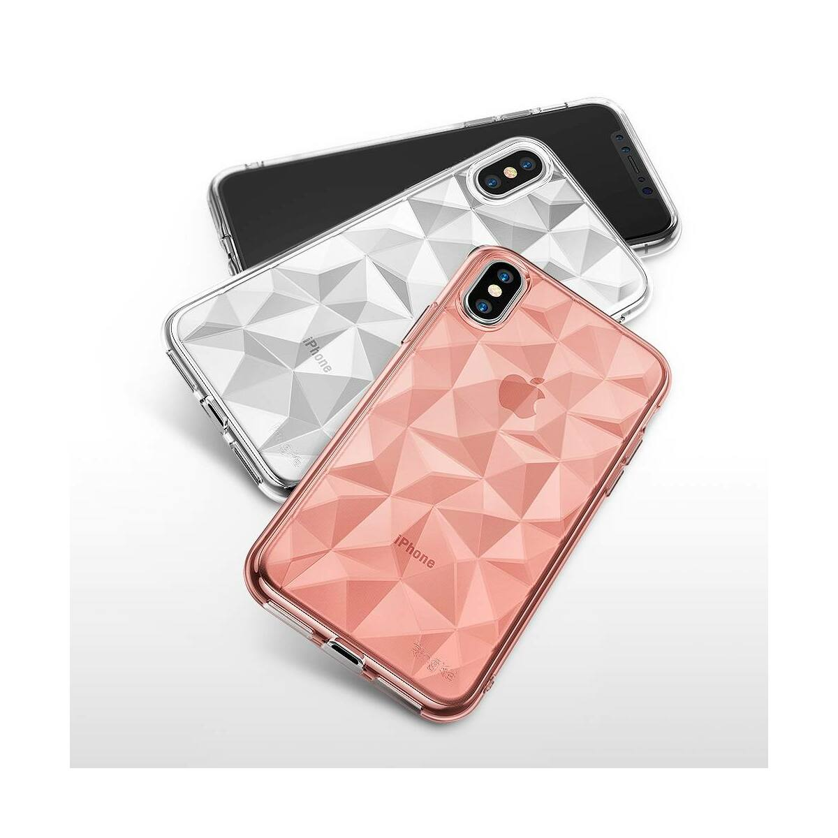 Ringke iPhone X/XS tok, Air Prism, füst fekete
