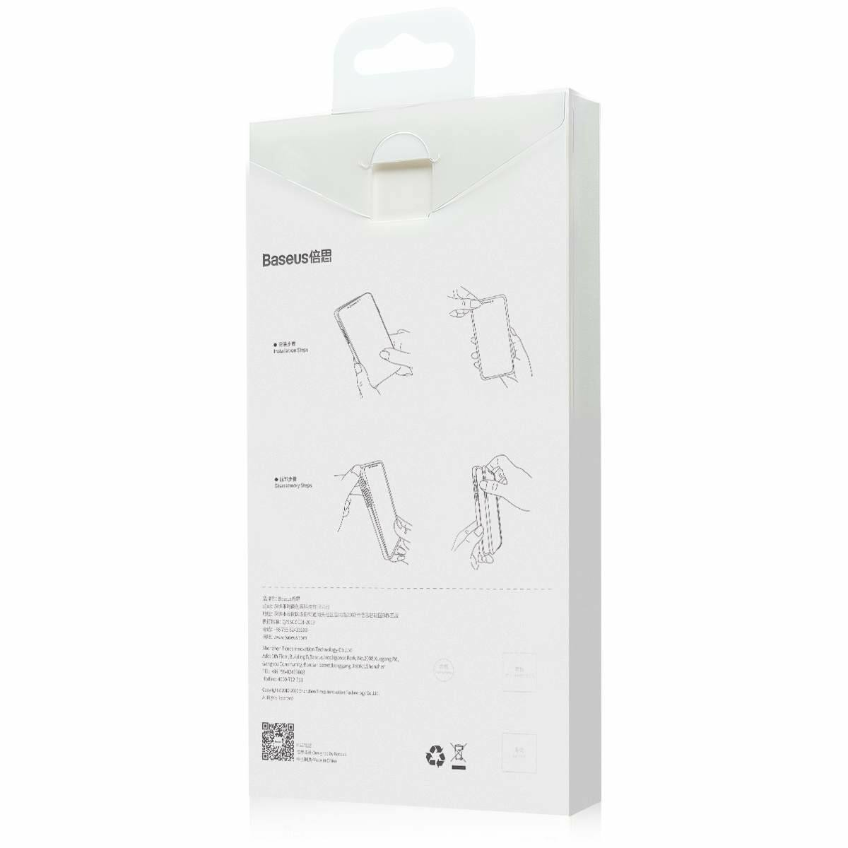 Baseus iPhone 12 mini tok, Simple, átlátszó (ARAPIPH54N-02)