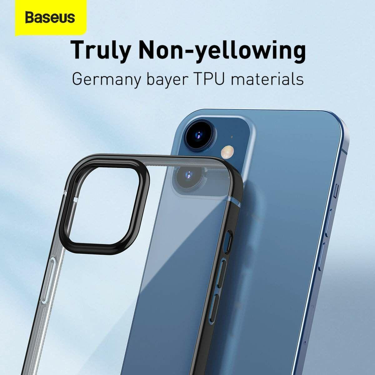 Baseus iPhone 12 mini tok, Shining (esés védelemmel), fekete (ARAPIPH54N-MD01)