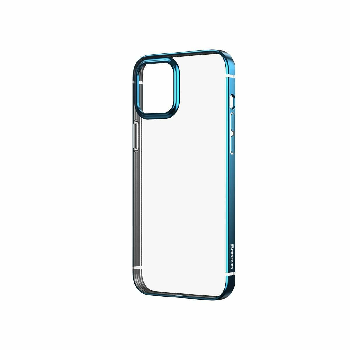Baseus iPhone 12 mini tok, Shining (esés védelemmel), kék (ARAPIPH54N-MD03)
