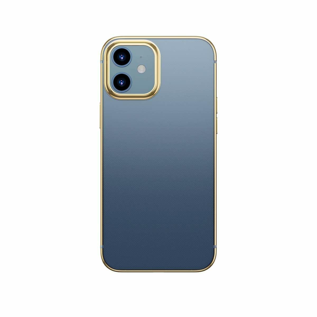 Baseus iPhone 12 mini tok, Shining (esés védelemmel), arany (ARAPIPH54N-MD0V)