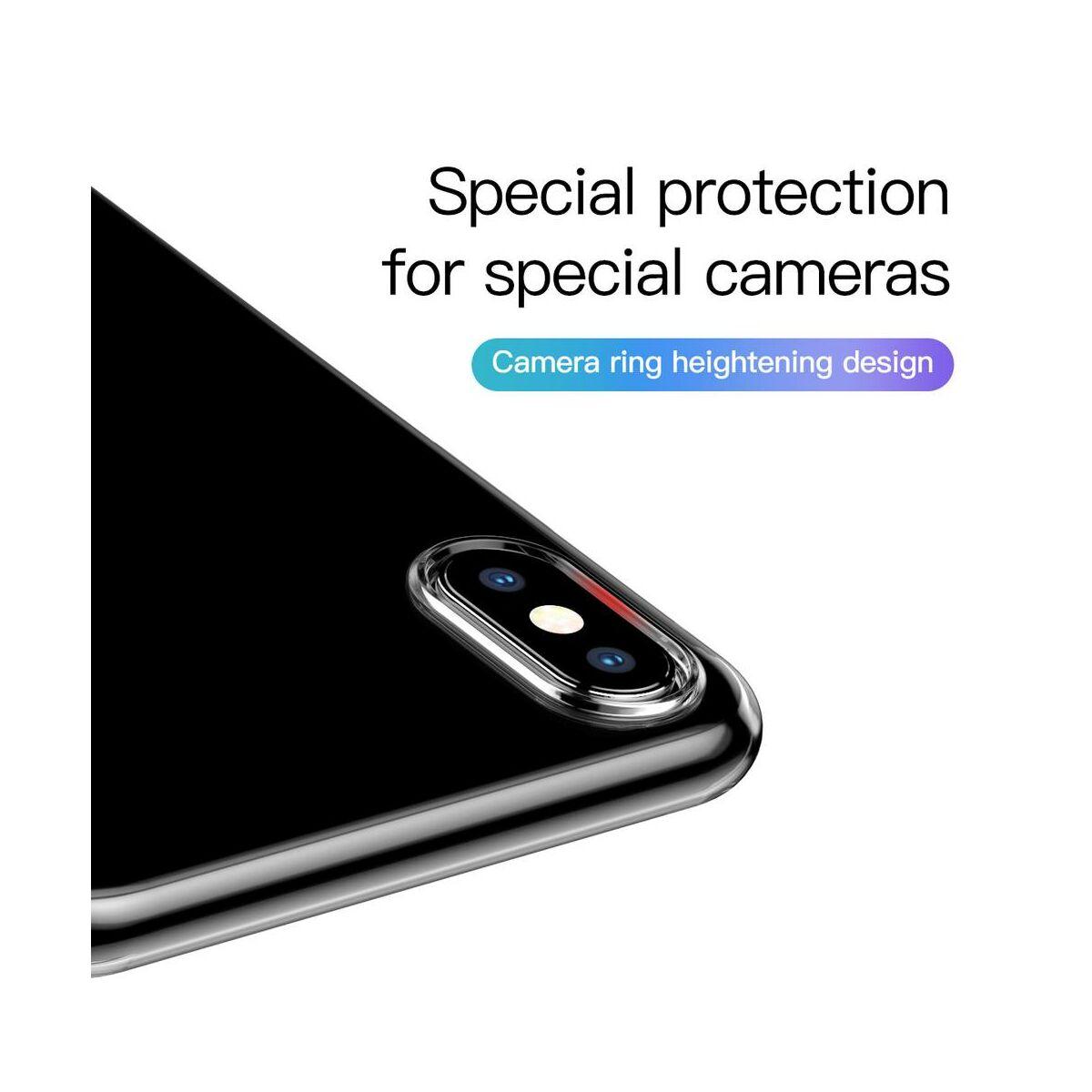 Baseus iPhone XS tok, Simplicity, pormentes, átlátszó (ARAPIPH58-A02)