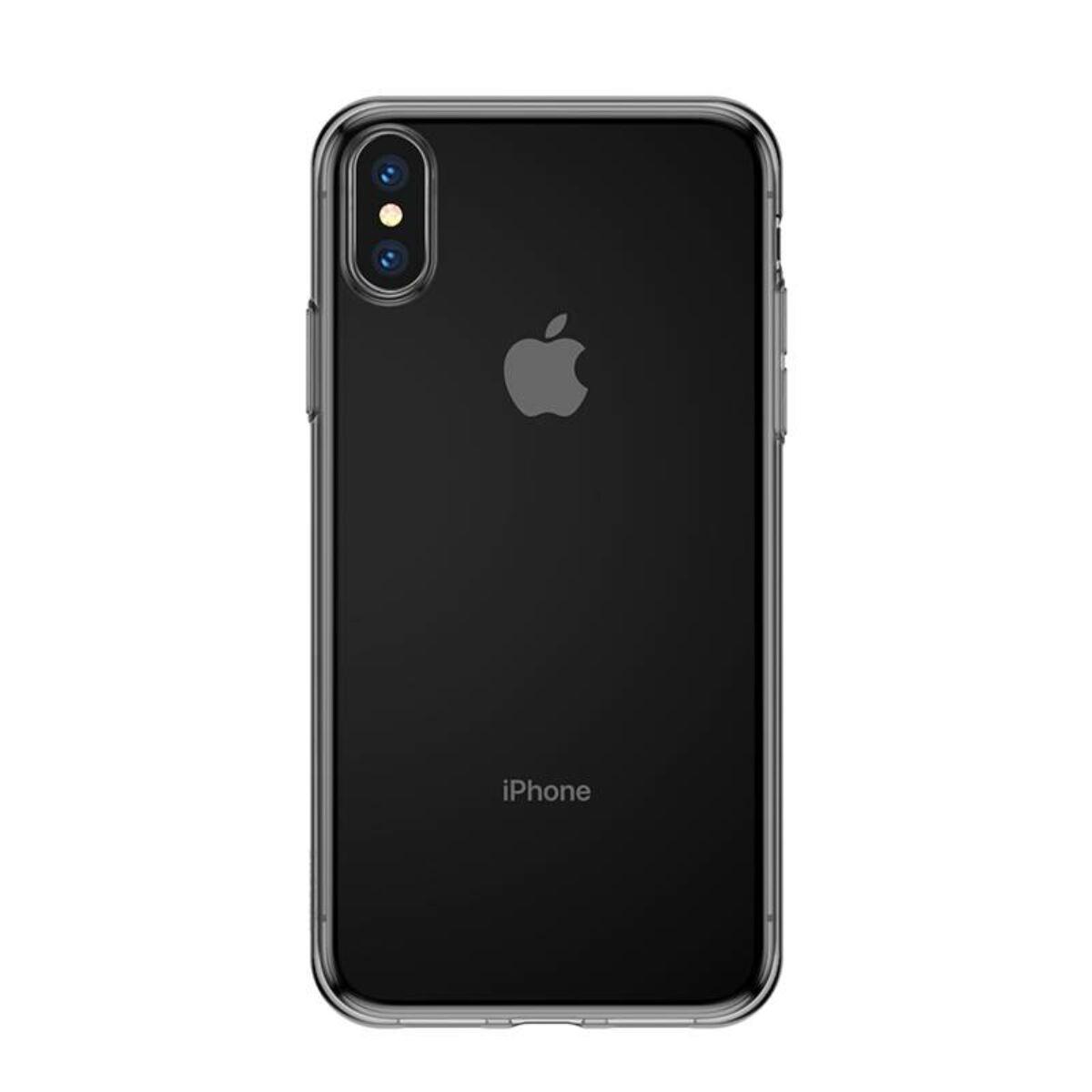 Baseus iPhone XS tok, Simplicity, átlátszó fekete (ARAPIPH58-B01)