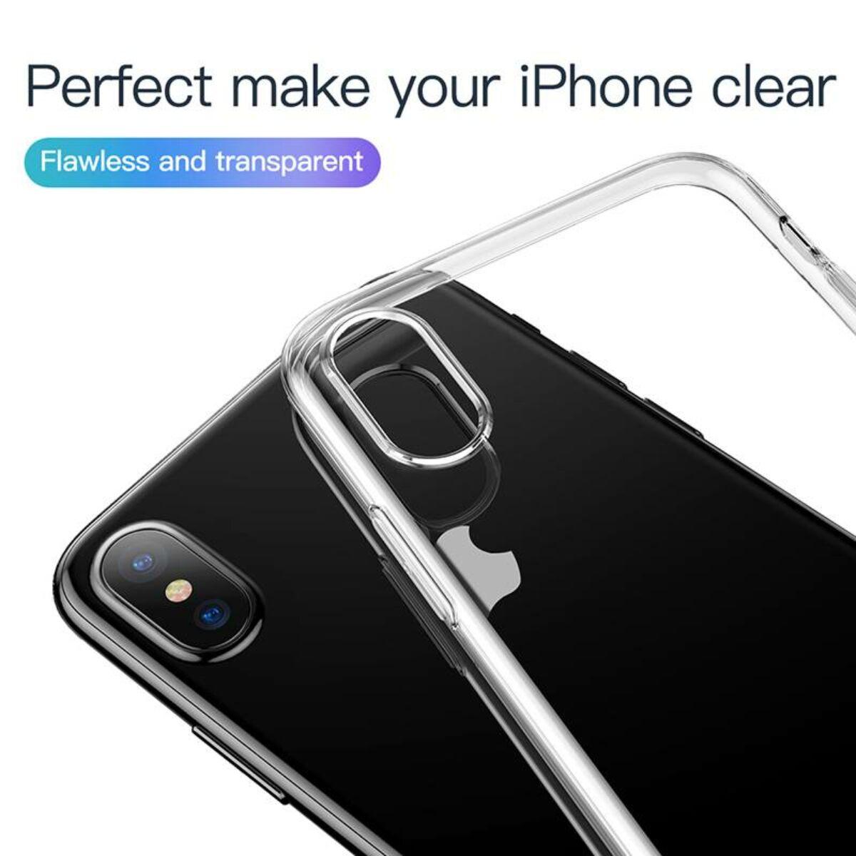 Baseus iPhone XS tok, Simplicity, átlátszó (ARAPIPH58-B02)
