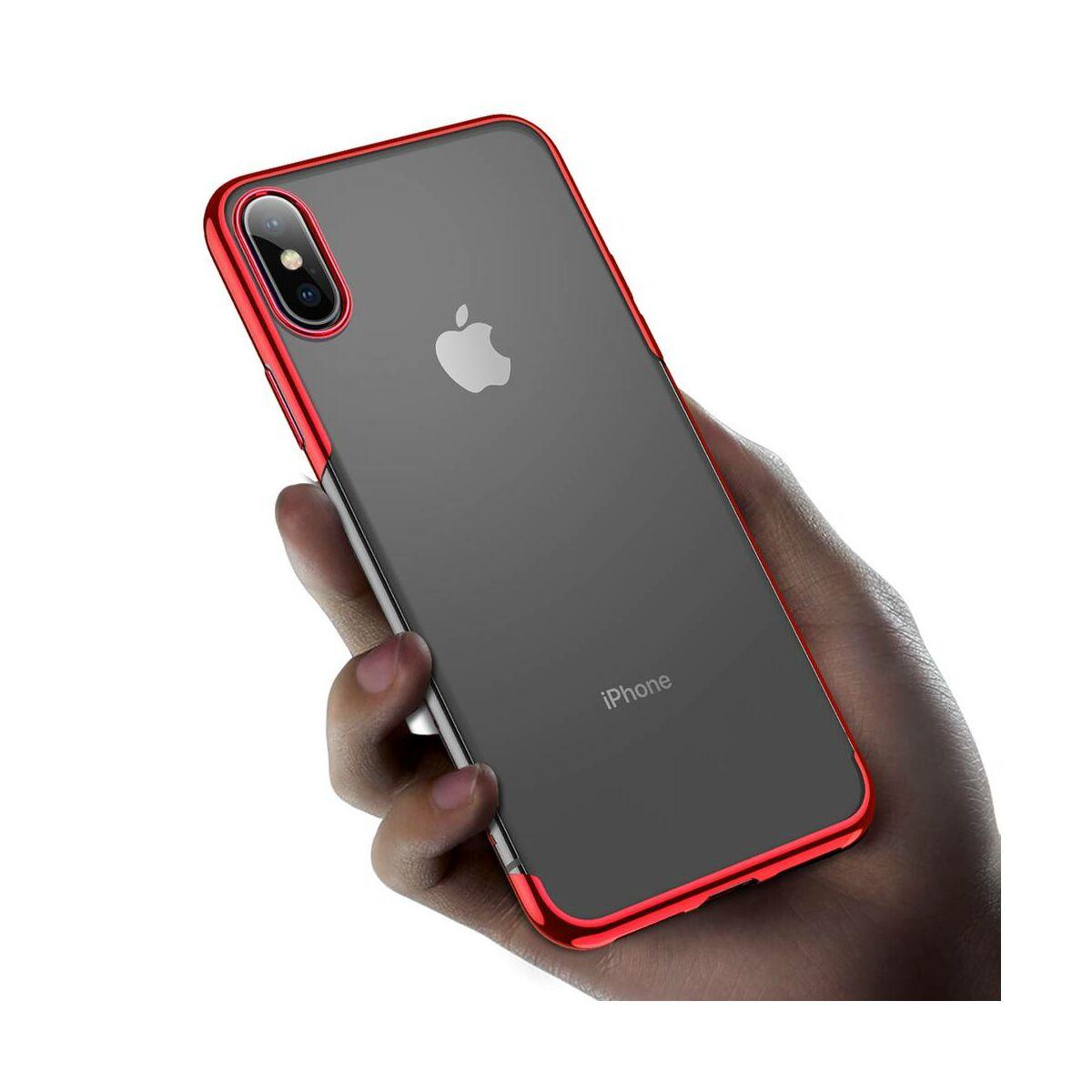 Baseus iPhone XS tok, Shining, piros (ARAPIPH58-MD09)