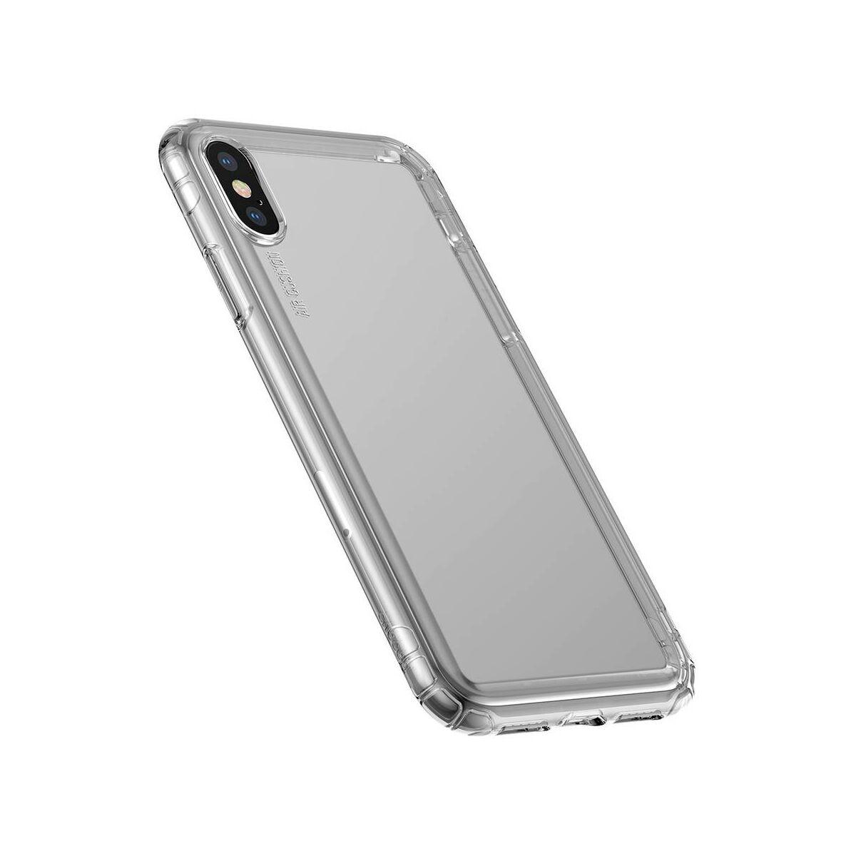 Baseus iPhone XS tok, Safety Airbags, átlátszó fekete (ARAPIPH58-SF01)