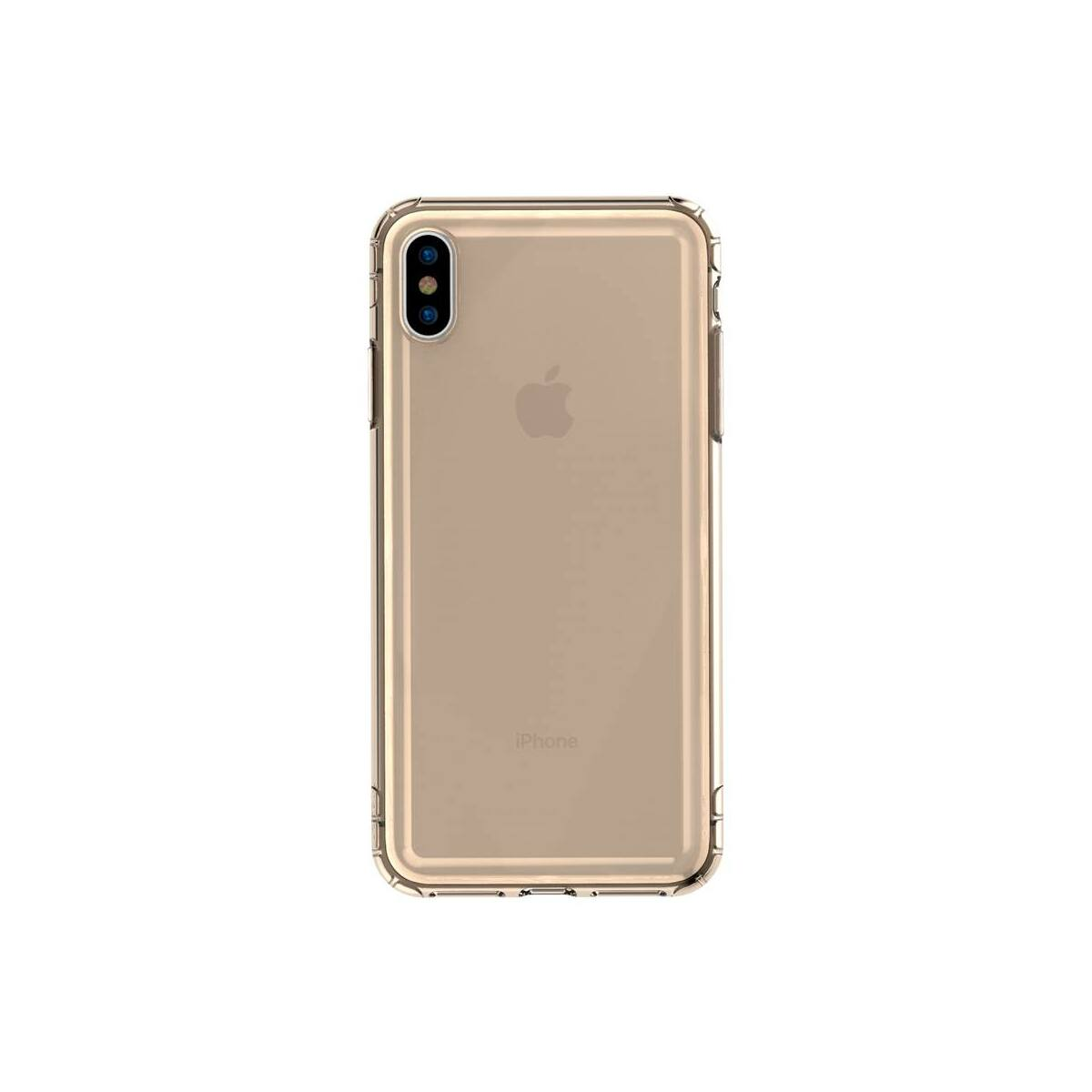 Baseus iPhone XS tok, Safety Airbags, átlátszó arany (ARAPIPH58-SF0V)