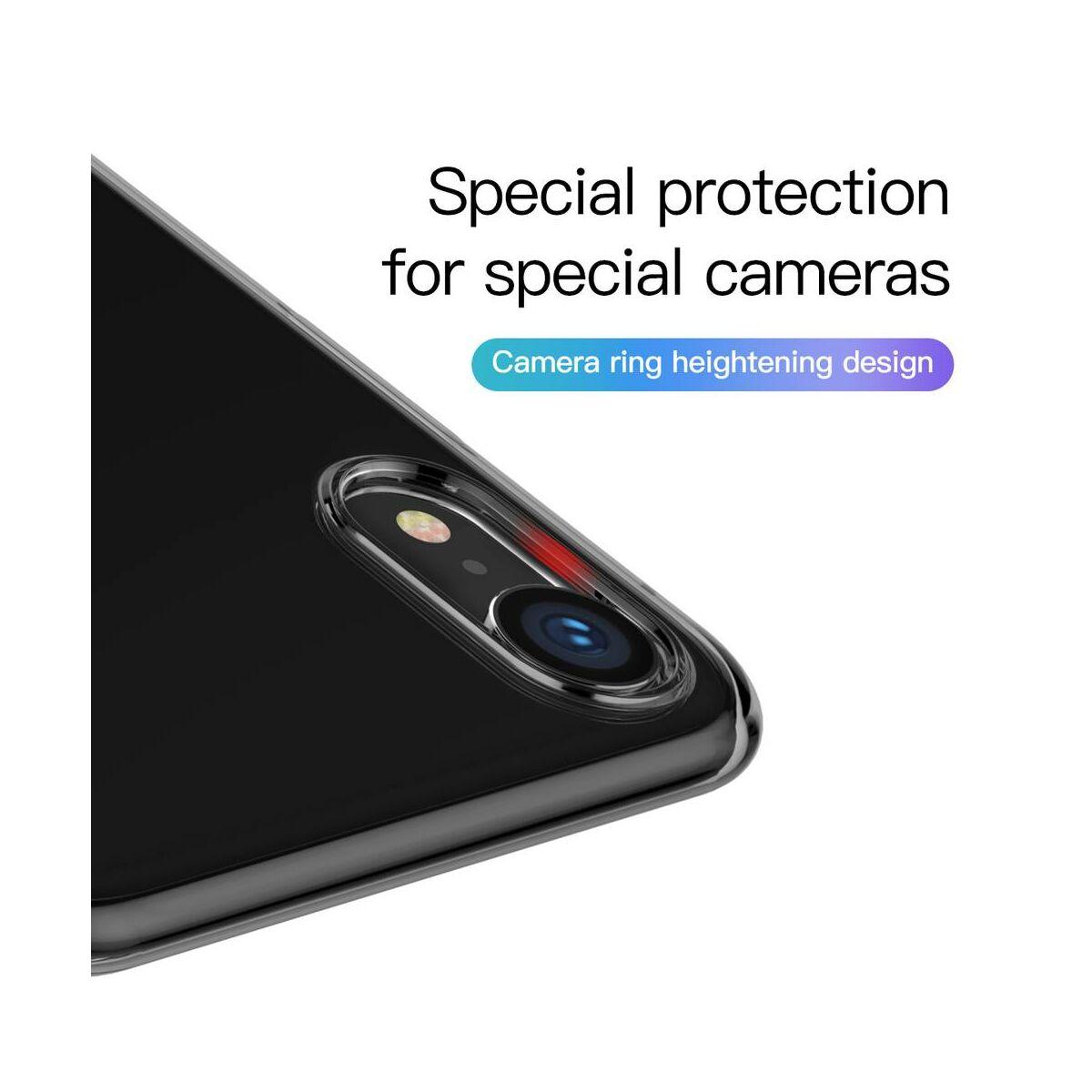 Baseus iPhone XR tok, Simplicity, pormentes, átlátszó fekete (ARAPIPH61-A01)