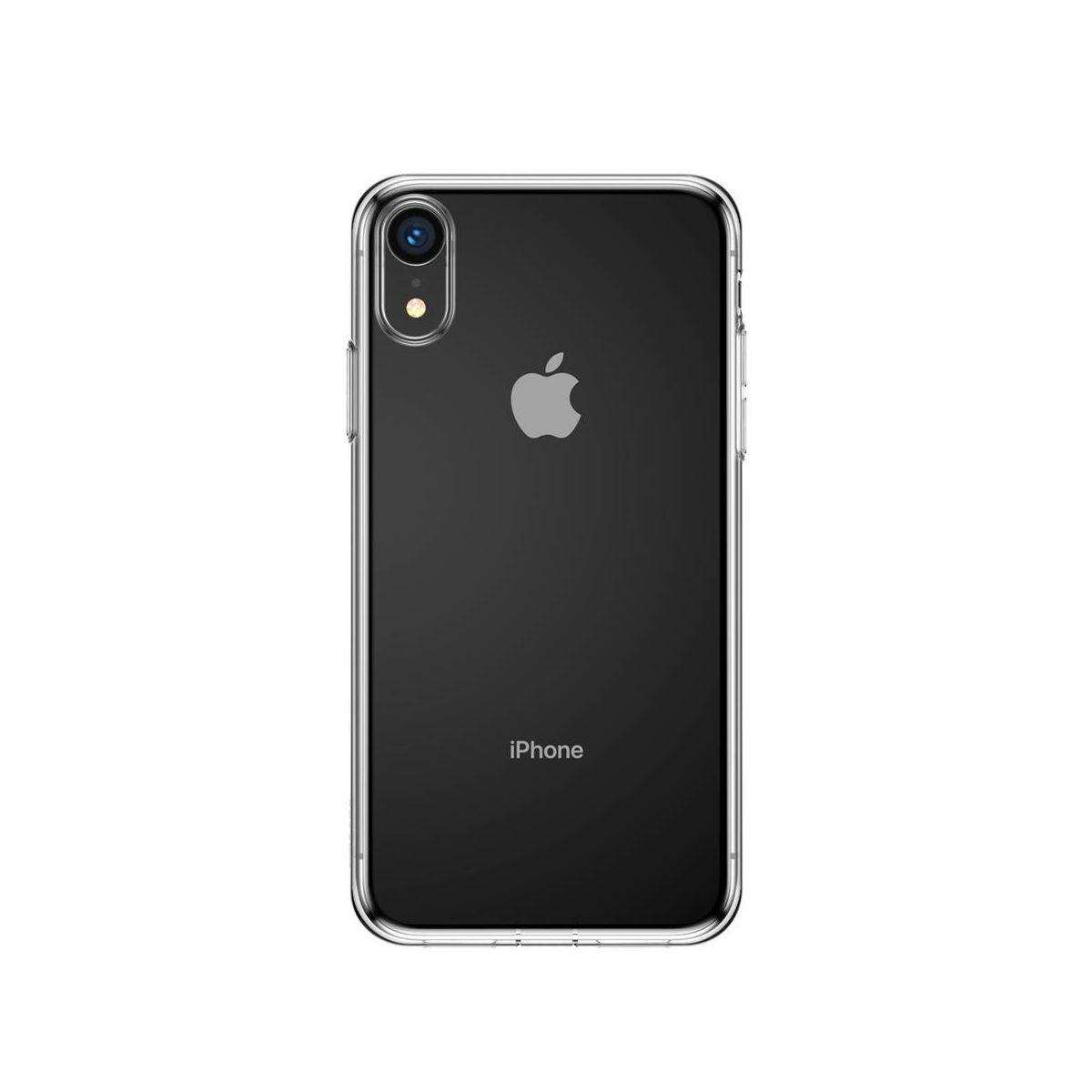 Baseus iPhone XR tok, Simplicity, pormentes, átlátszó (ARAPIPH61-A02)