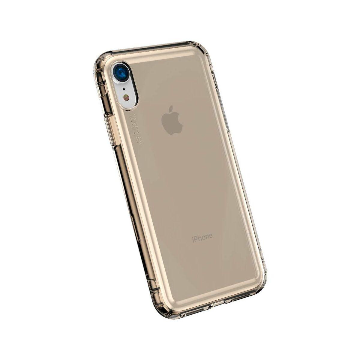 Baseus iPhone XR tok, Safety Airbags, átlátszó arany (ARAPIPH61-SF0V)