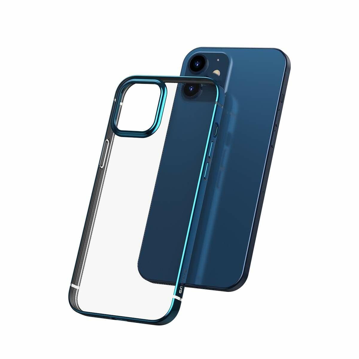Baseus iPhone 12/12 Pro tok, Shining (esés védelemmel), kék (ARAPIPH61N-MD03)