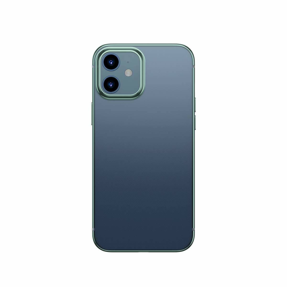 Baseus iPhone 12/12 Pro tok, Shining (esés védelemmel), zöld (ARAPIPH61N-MD06)