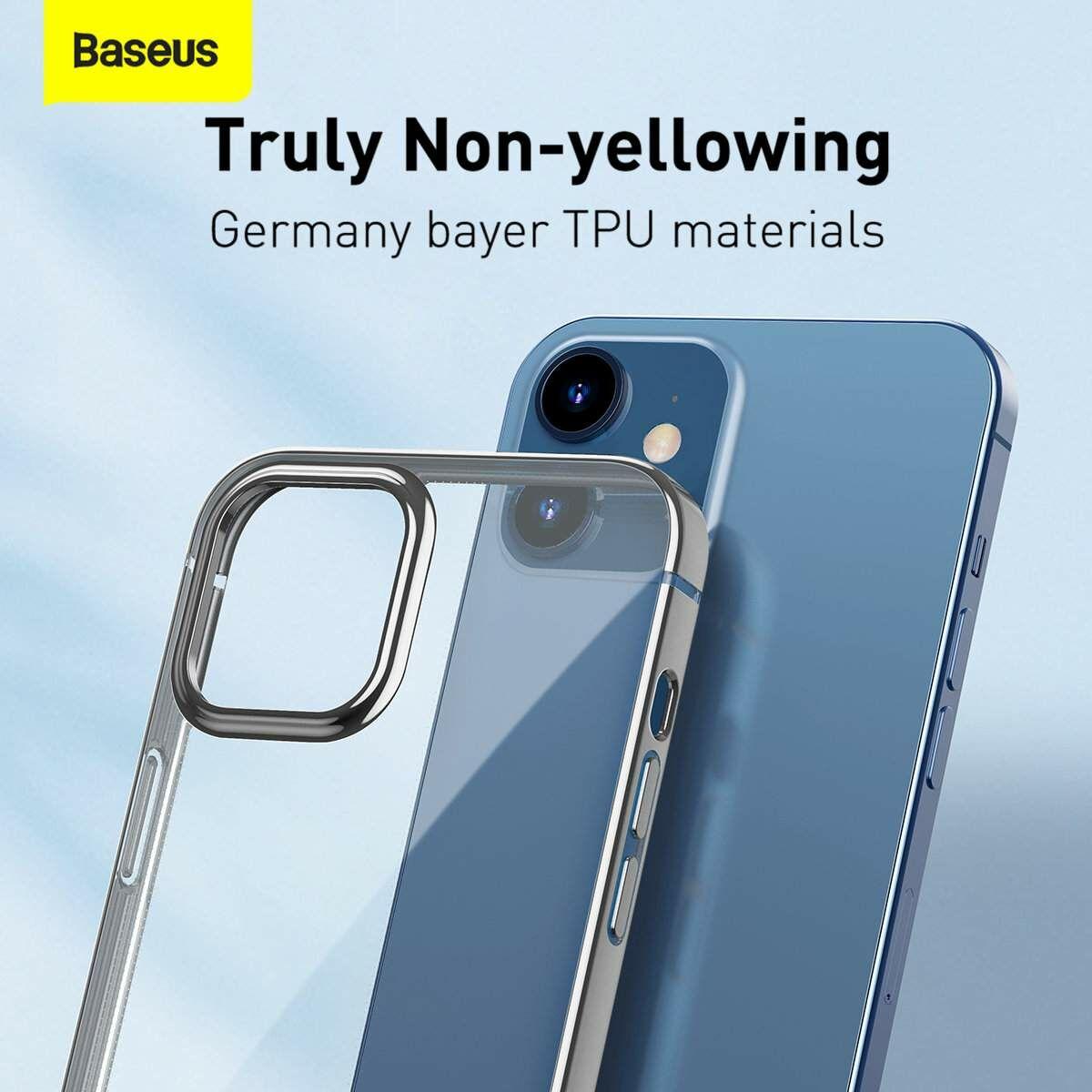 Baseus iPhone 12/12 Pro tok, Shining (esés védelemmel), ezüst (ARAPIPH61N-MD0S)