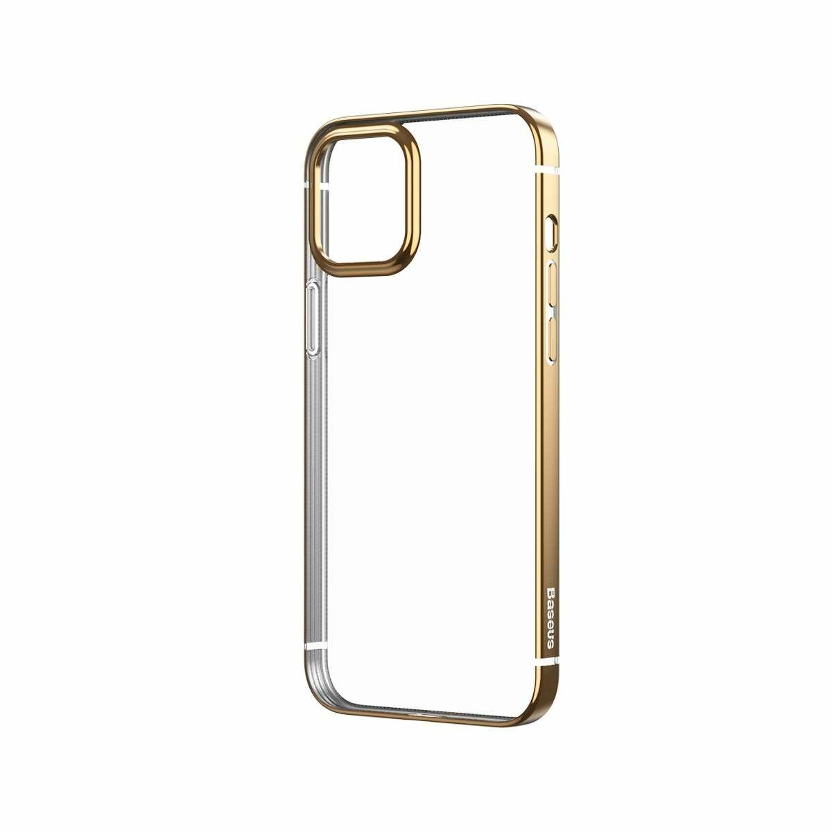 Baseus iPhone 12/12 Pro tok, Shining (esés védelemmel), arany (ARAPIPH61N-MD0V)