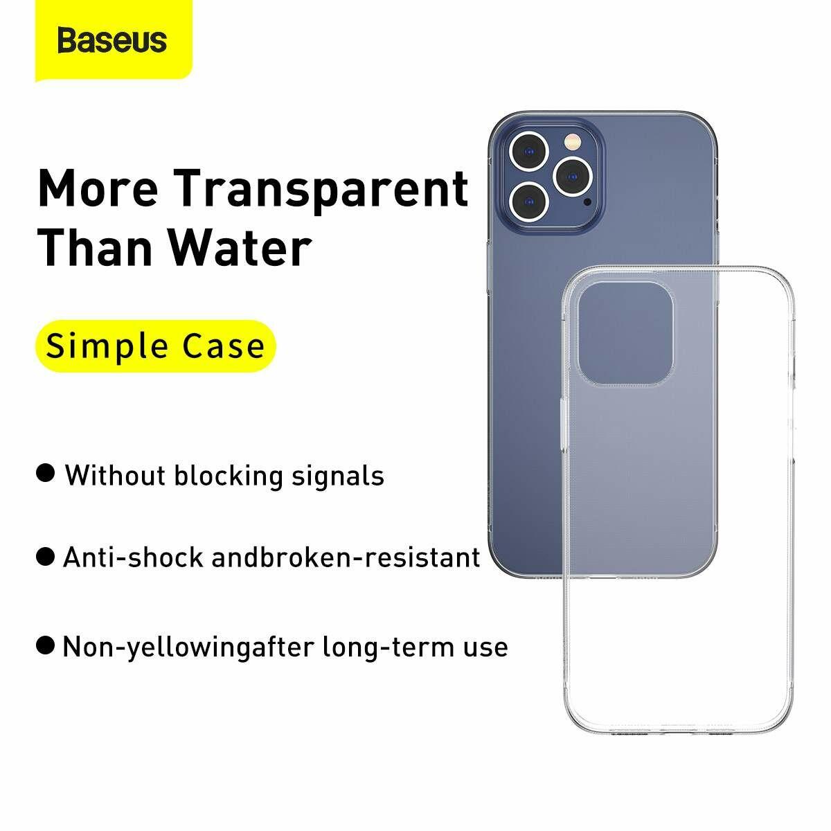 Baseus iPhone 12/12 Pro tok, Simple, átlátszó (ARAPIPH61P-02)