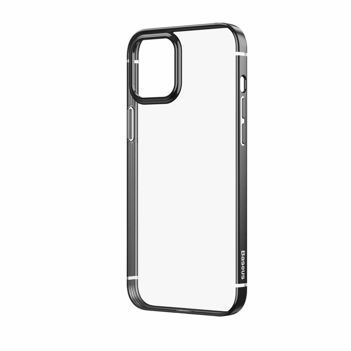 Baseus iPhone 12/12 Pro tok, Shining (esés védelemmel), fekete (ARAPIPH61P-MD01)
