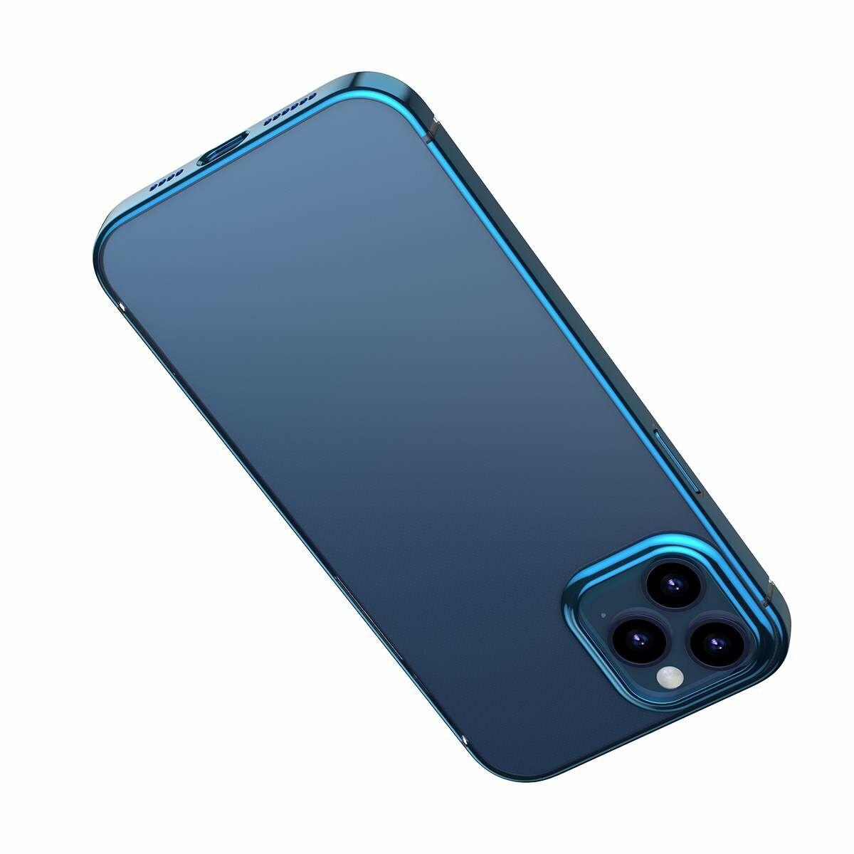 Baseus iPhone 12/12 Pro tok, Shining (esés védelemmel), kék (ARAPIPH61P-MD03)