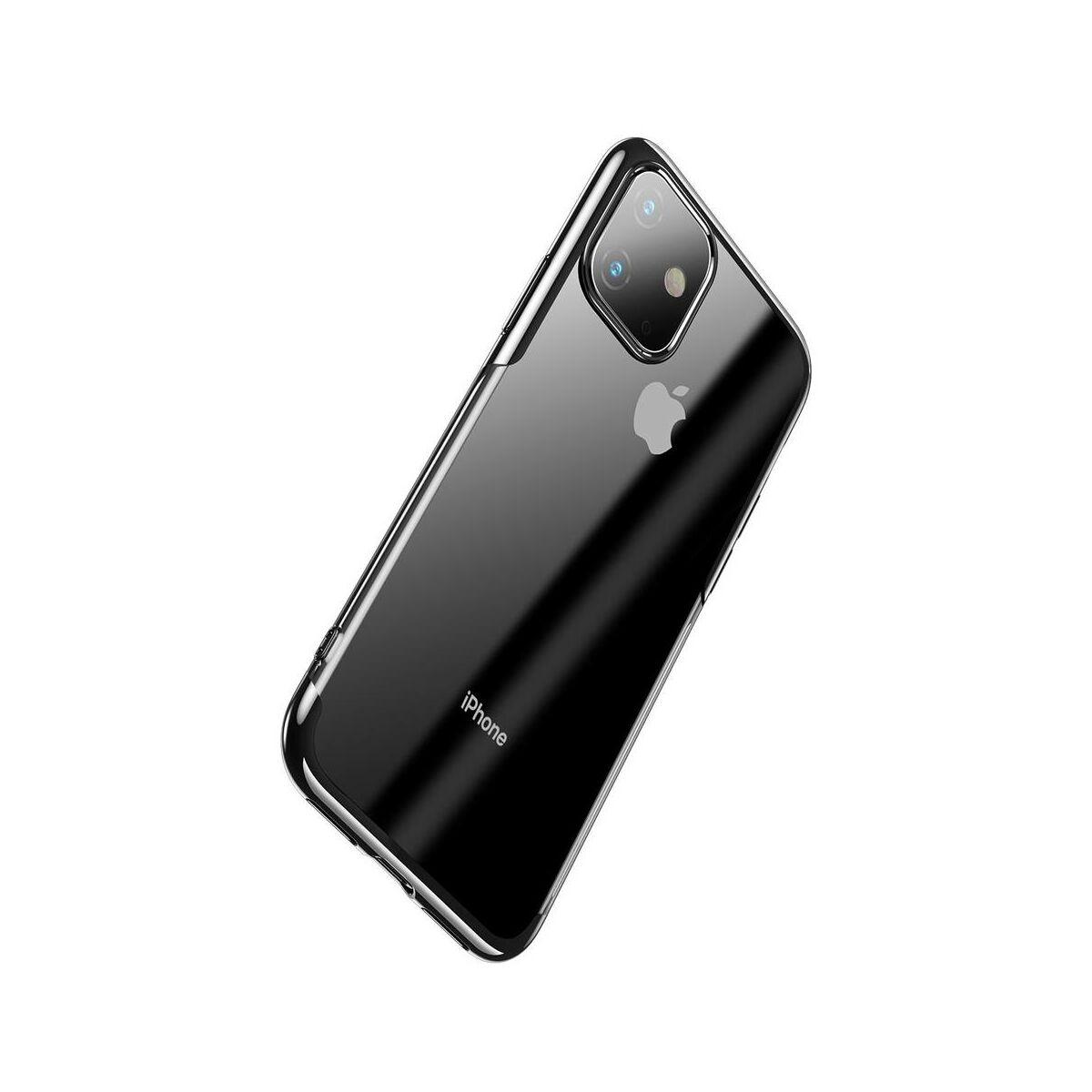 Baseus iPhone 11 tok, Shining, fekete (ARAPIPH61S-MD01)