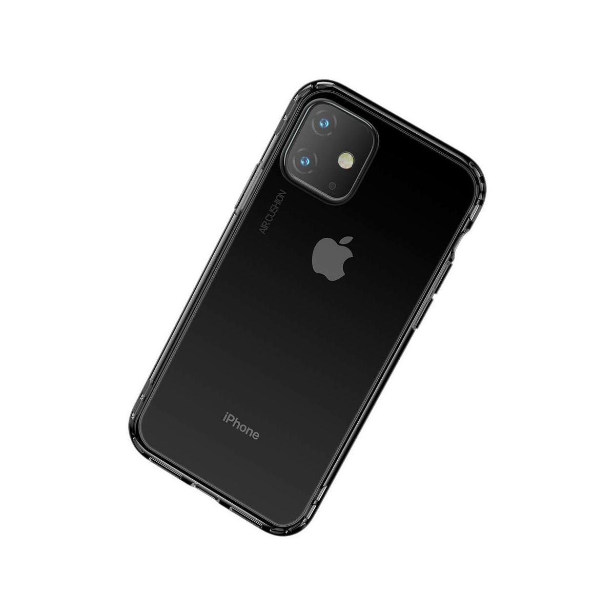 Baseus iPhone 11 tok, Safety Airbags, átlátszó fekete (ARAPIPH61S-SF01)