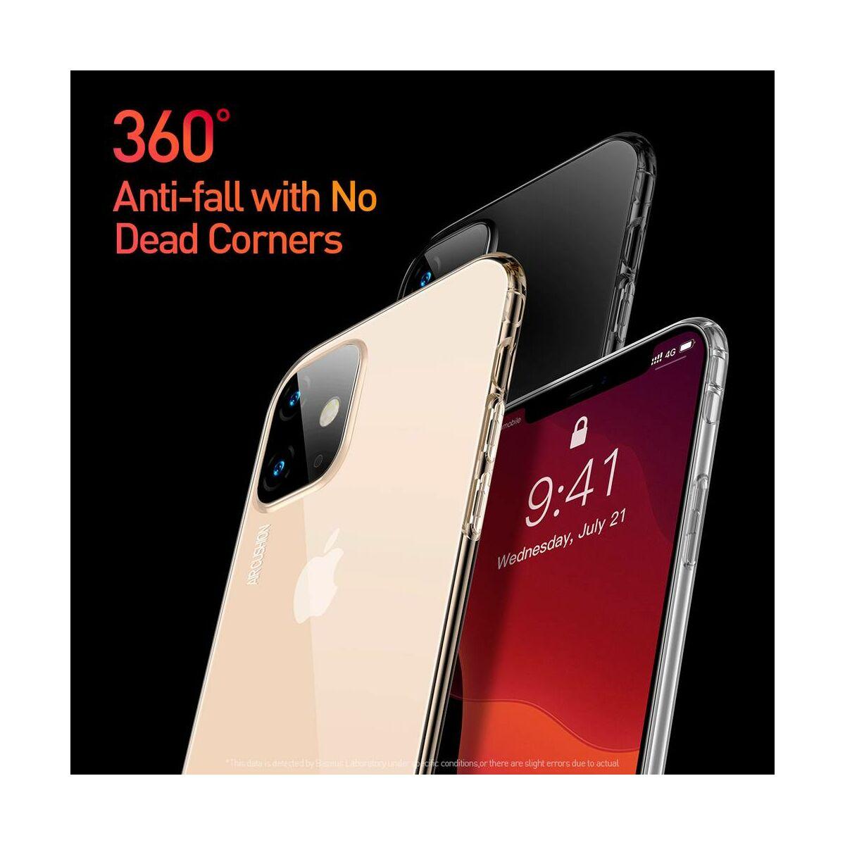 Baseus iPhone 11 tok, Safety Airbags, átlátszó arany (ARAPIPH61S-SF0V)